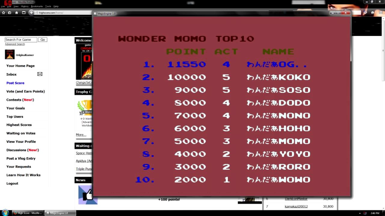 OriginalGamer: Wonder Momo (TurboGrafx-16/PC Engine Emulated) 11,550 points on 2015-10-05 01:24:26