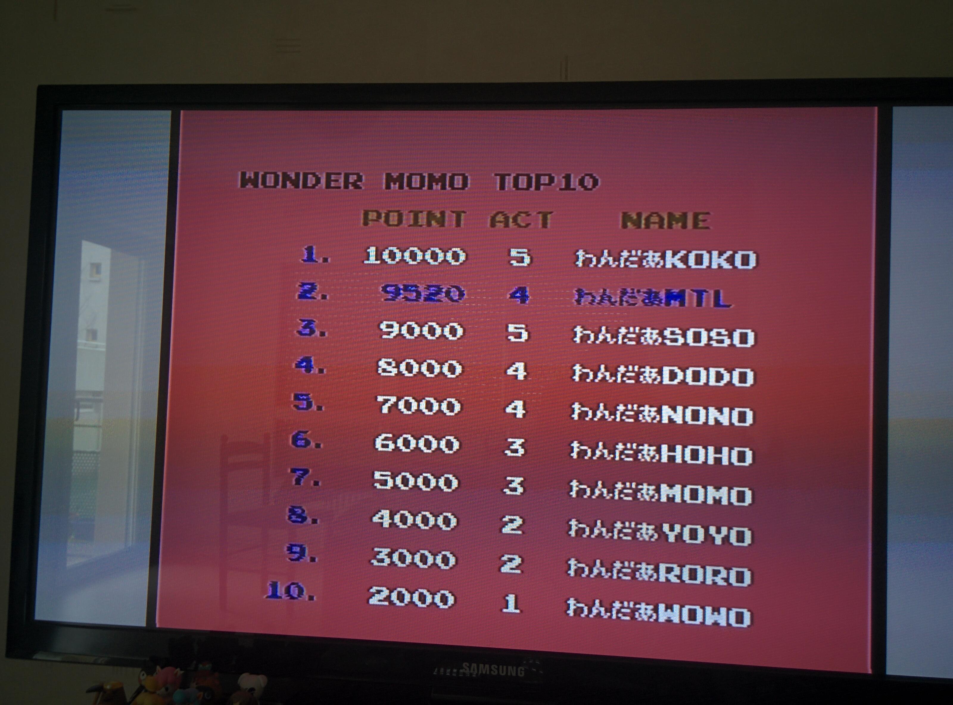 Mantalow: Wonder Momo (TurboGrafx-16/PC Engine) 9,520 points on 2016-02-08 10:01:50