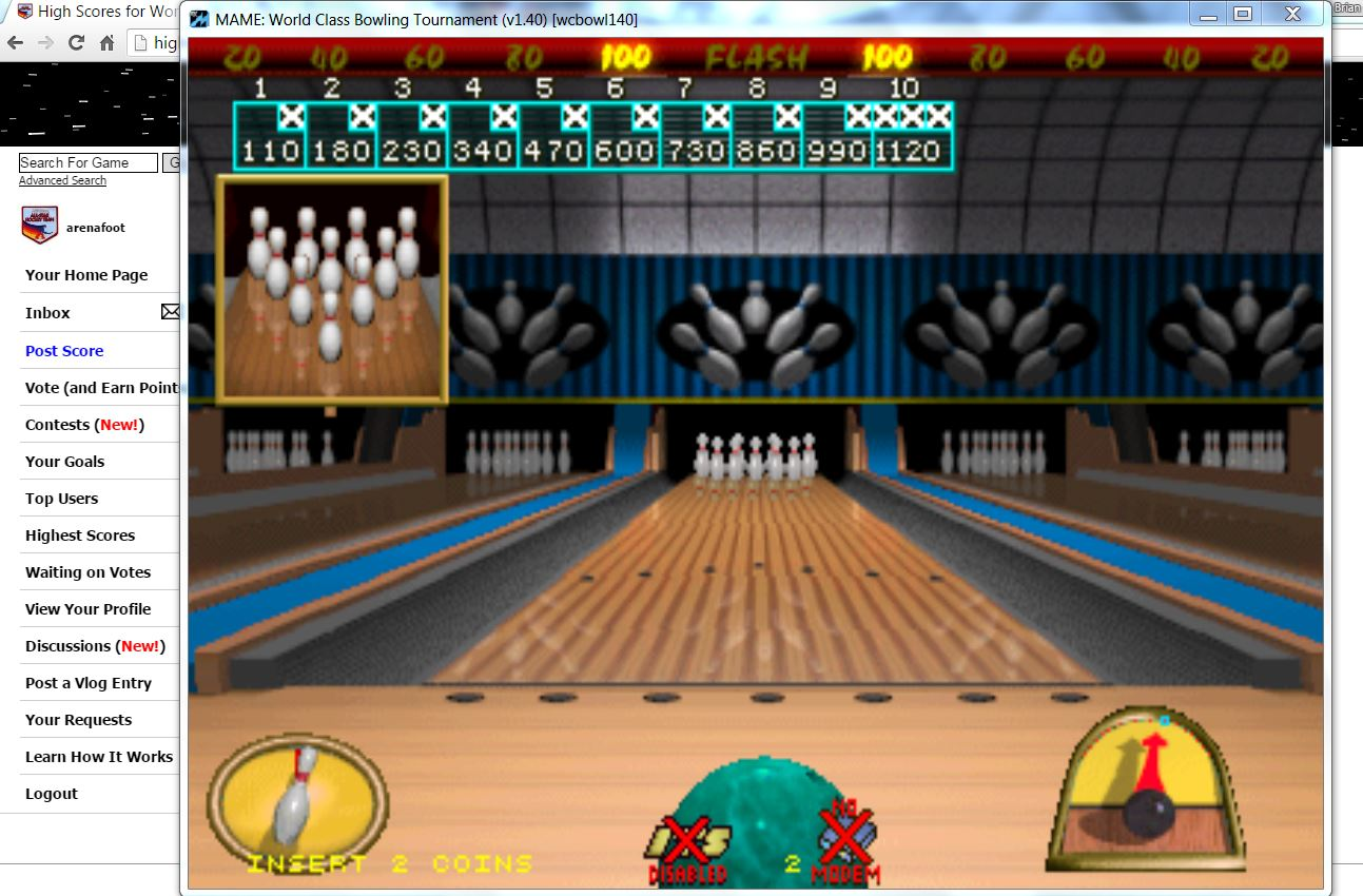 arenafoot: World Class Bowling Deluxe [wcbowldx] [Flash] (Arcade Emulated / M.A.M.E.) 1,120 points on 2016-05-25 16:26:37