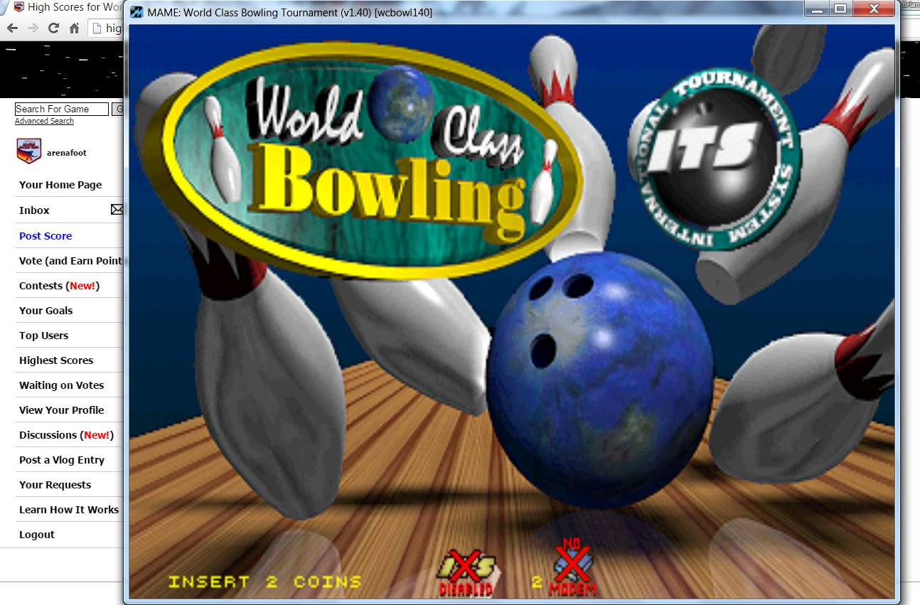 arenafoot: World Class Bowling Deluxe [wcbowldx] [Regulation] (Arcade Emulated / M.A.M.E.) 290 points on 2016-05-25 16:19:54