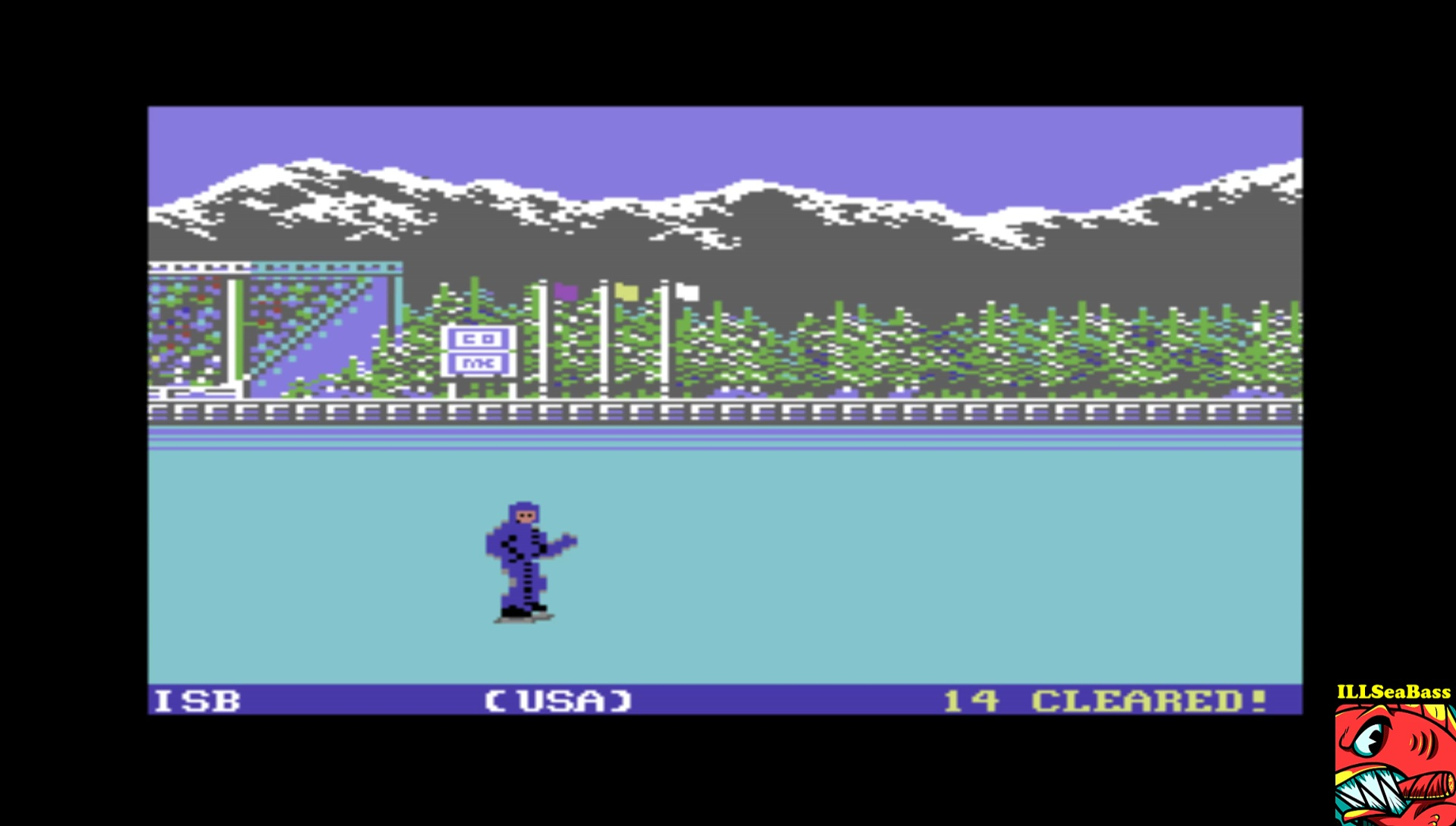 ILLSeaBass: World Games: Barrel Jumping [Barrels cleared.] (Commodore 64 Emulated) 14 points on 2017-03-16 00:12:43
