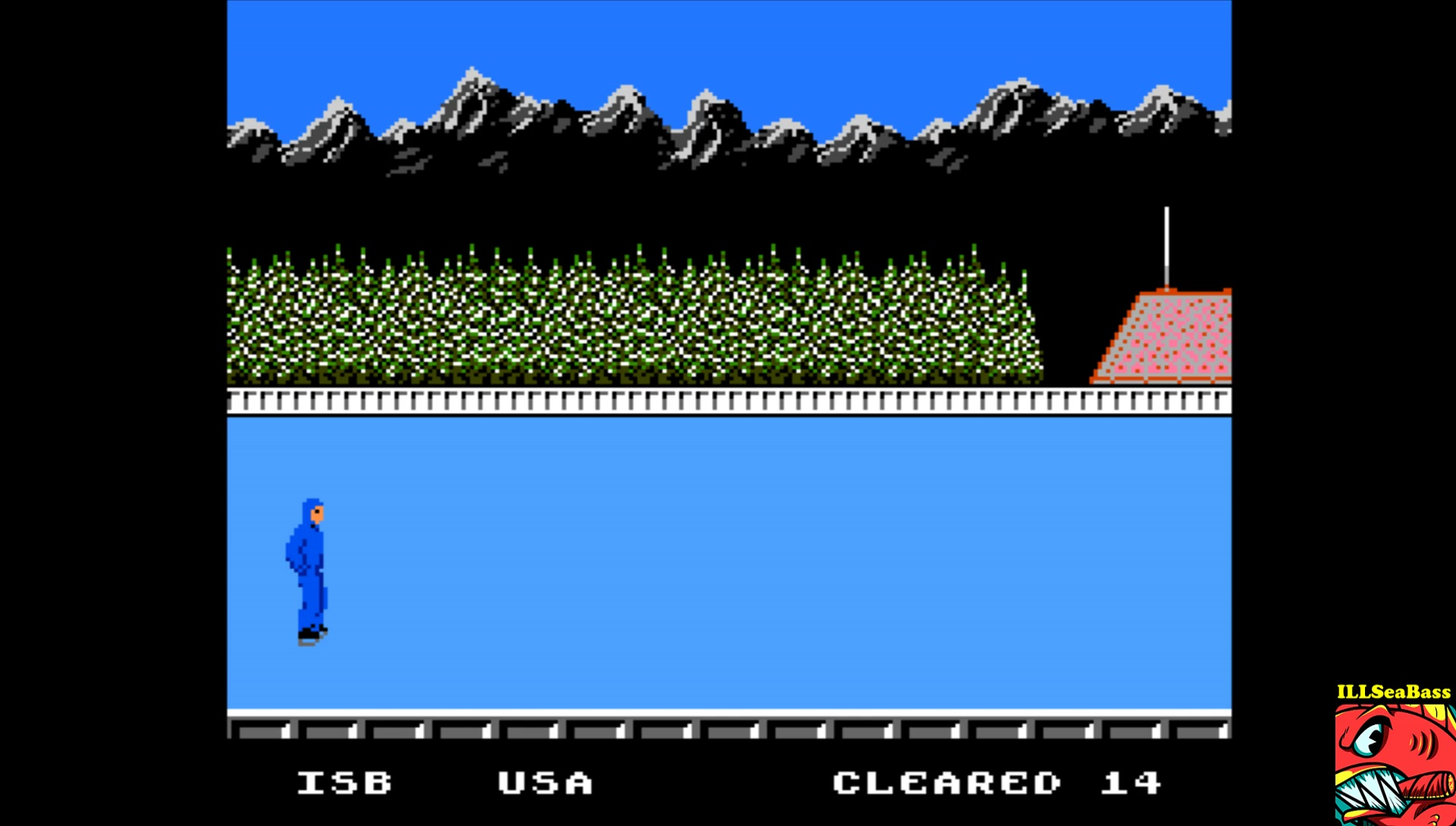 ILLSeaBass: World Games: Barrel Jumping [Barrels cleared] (NES/Famicom Emulated) 14 points on 2017-04-27 20:24:14