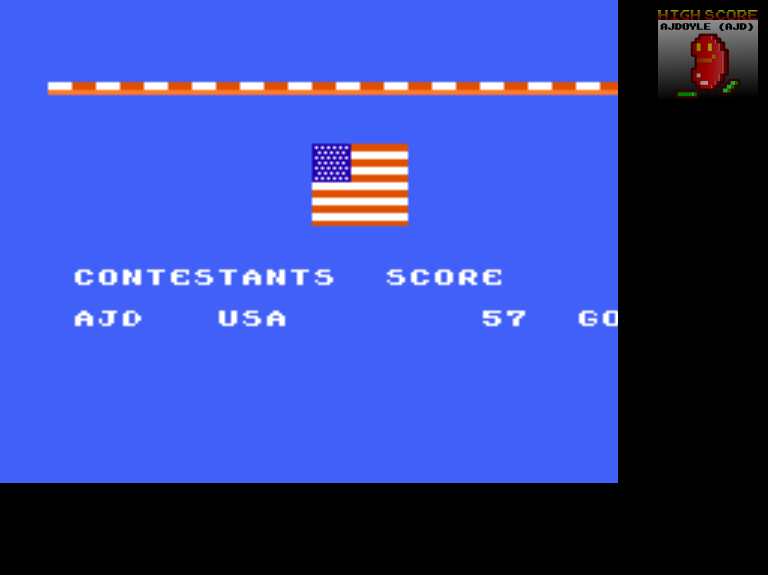 ajdoyle: World Games: Bull Riding (NES/Famicom Emulated) 57 points on 2018-03-15 21:00:35
