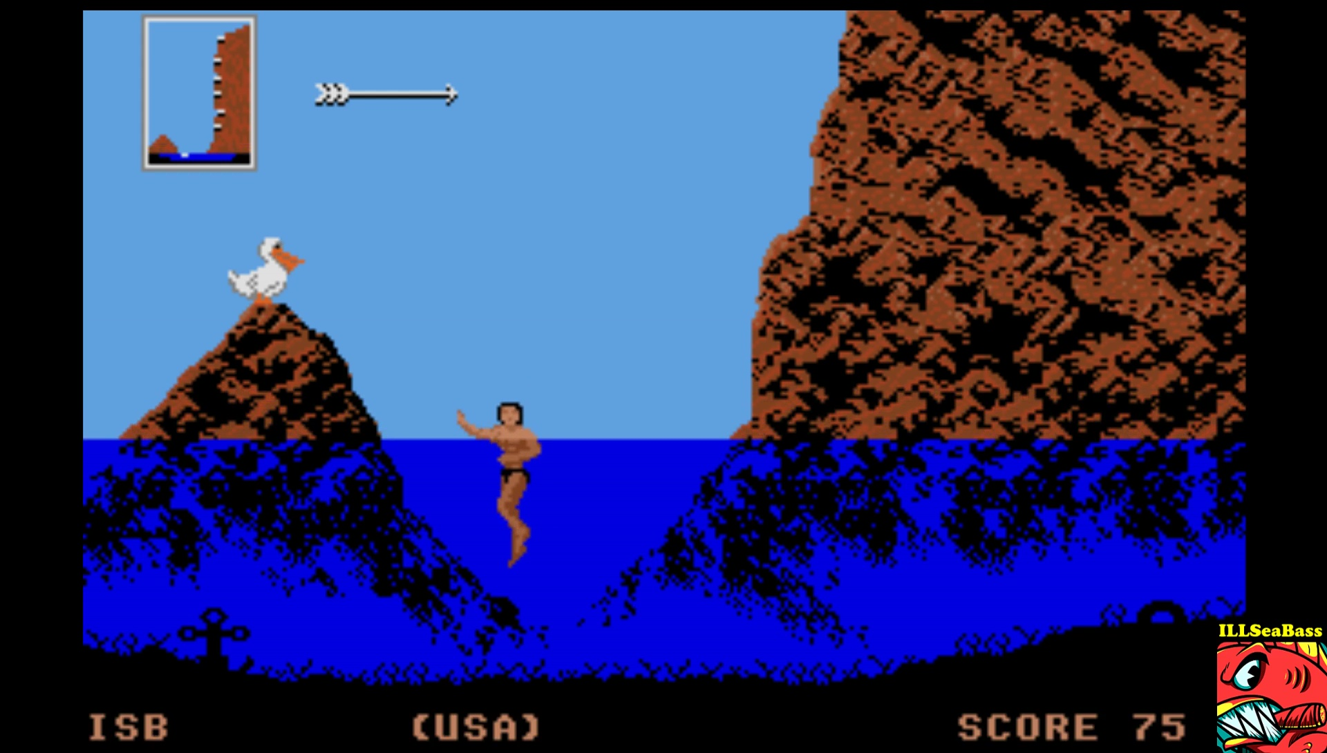 ILLSeaBass: World Games: Cliff Diving (Atari ST Emulated) 75 points on 2017-03-26 15:16:09