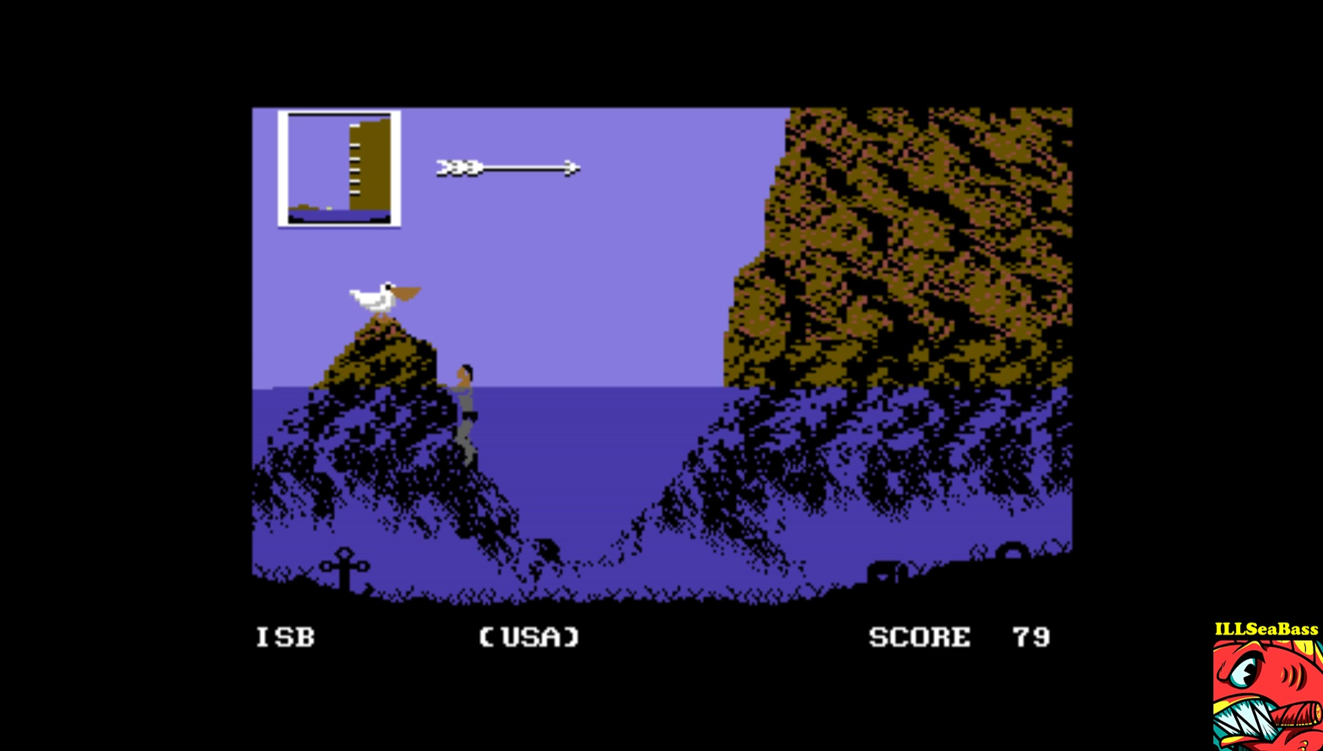 ILLSeaBass: World Games [Cliff Diving] (Commodore 64 Emulated) 79 points on 2017-02-16 21:54:33