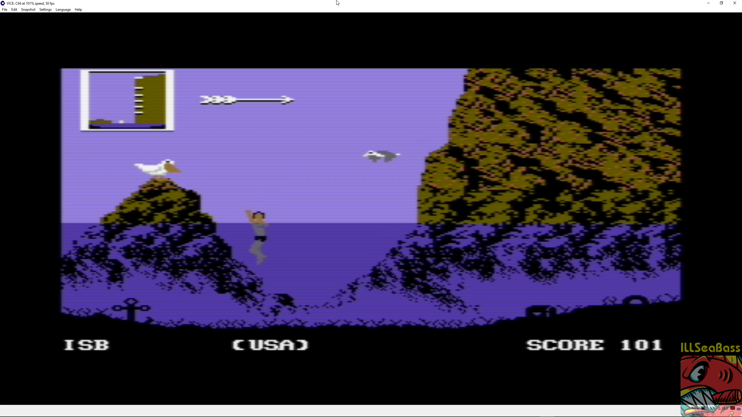 ILLSeaBass: World Games [Cliff Diving] (Commodore 64 Emulated) 101 points on 2018-08-27 15:25:04