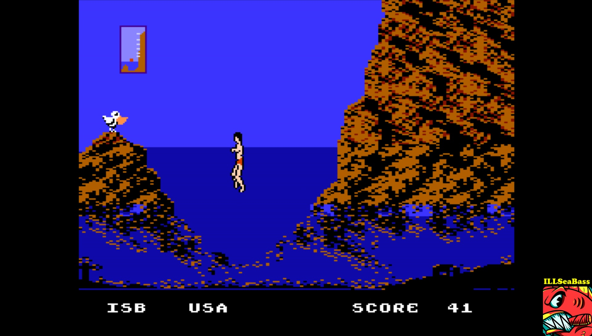 ILLSeaBass: World Games: Cliff Diving (NES/Famicom Emulated) 41 points on 2017-04-27 18:35:31