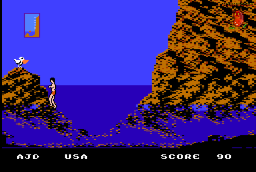 ajdoyle: World Games: Cliff Diving (NES/Famicom Emulated) 90 points on 2018-03-06 16:02:07