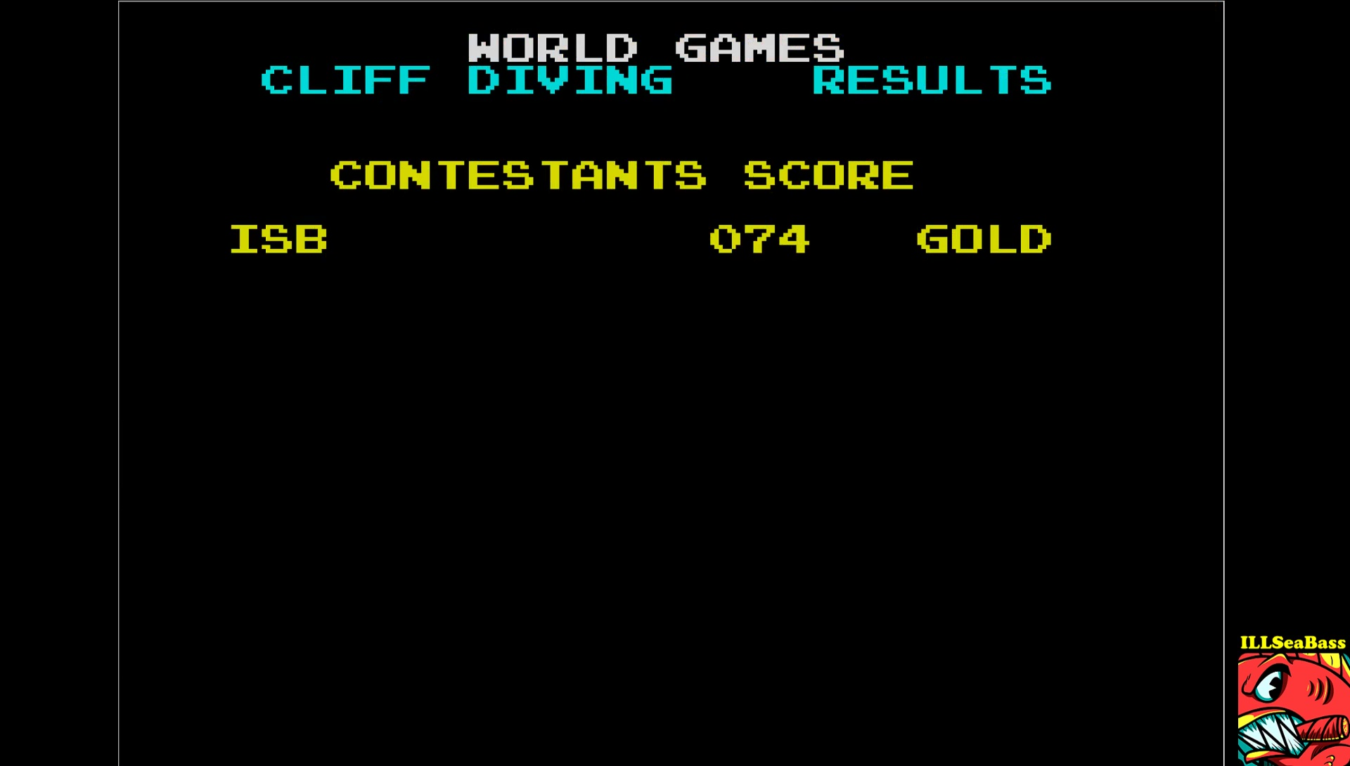 ILLSeaBass: World Games [Cliff Diving] (ZX Spectrum Emulated) 74 points on 2017-08-28 12:43:09