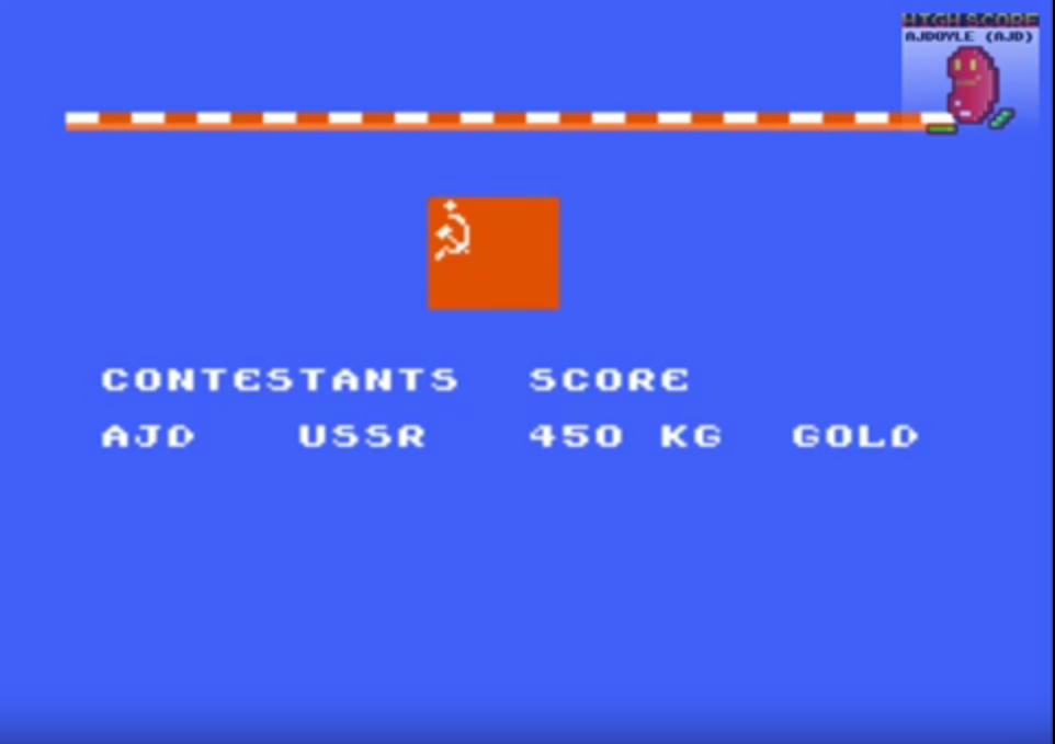 ajdoyle: World Games: Weight Lifting (NES/Famicom Emulated) 450 points on 2018-03-15 21:05:46