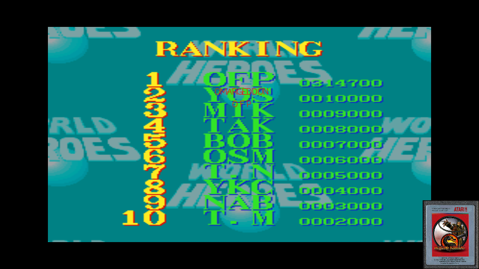 omargeddon: World Heroes [Difficulty Level 4] (SNES/Super Famicom Emulated) 314,700 points on 2017-02-21 10:58:25