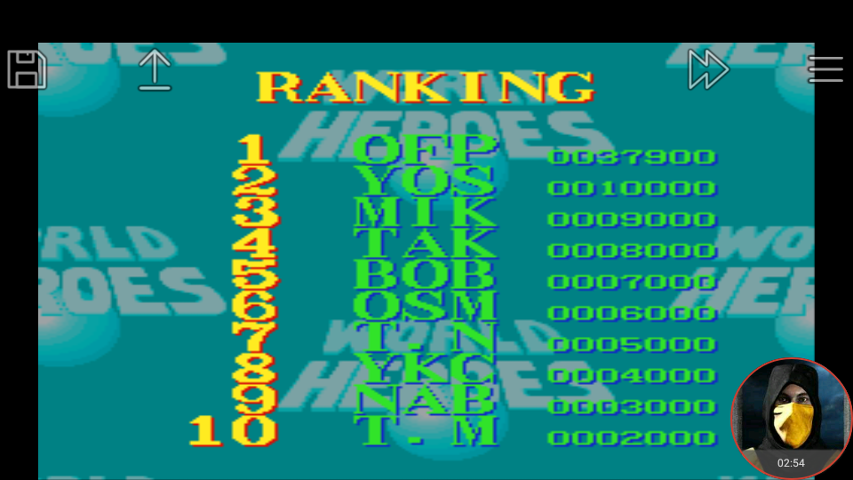 omargeddon: World Heroes [Difficulty Level 5] (SNES/Super Famicom Emulated) 37,900 points on 2018-03-14 16:34:58