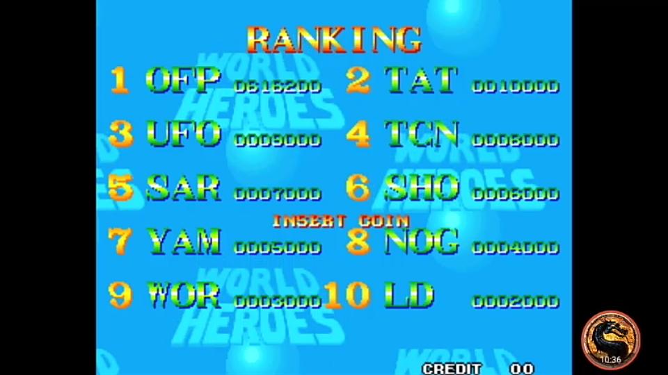 omargeddon: World Heroes (Neo Geo Emulated) 616,200 points on 2019-01-03 20:33:39