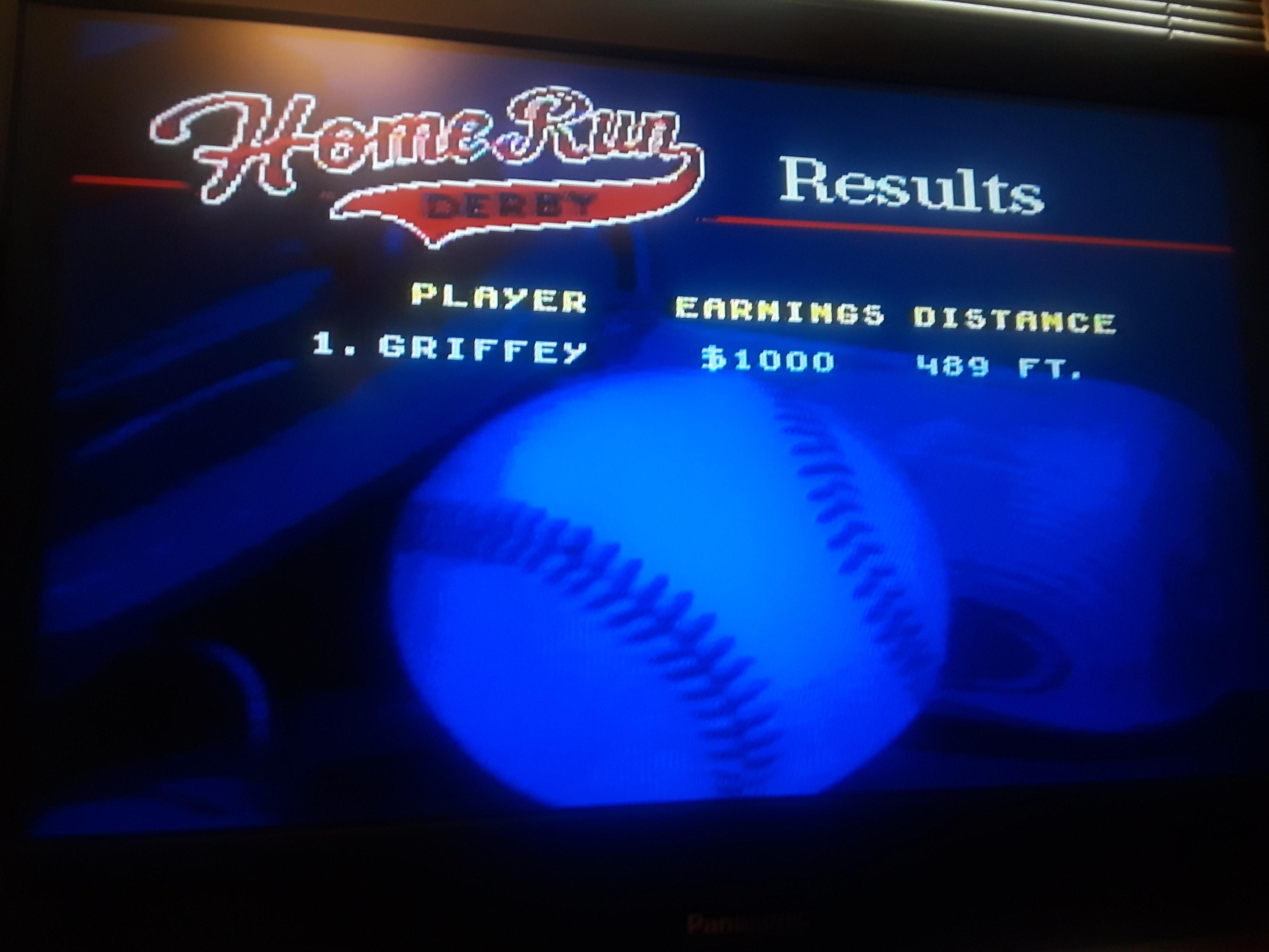 JML101582: World Series Baseball: Home Run Derby [Longest Home Run in Feet] (Sega Genesis / MegaDrive Emulated) 489 points on 2019-07-15 18:18:49