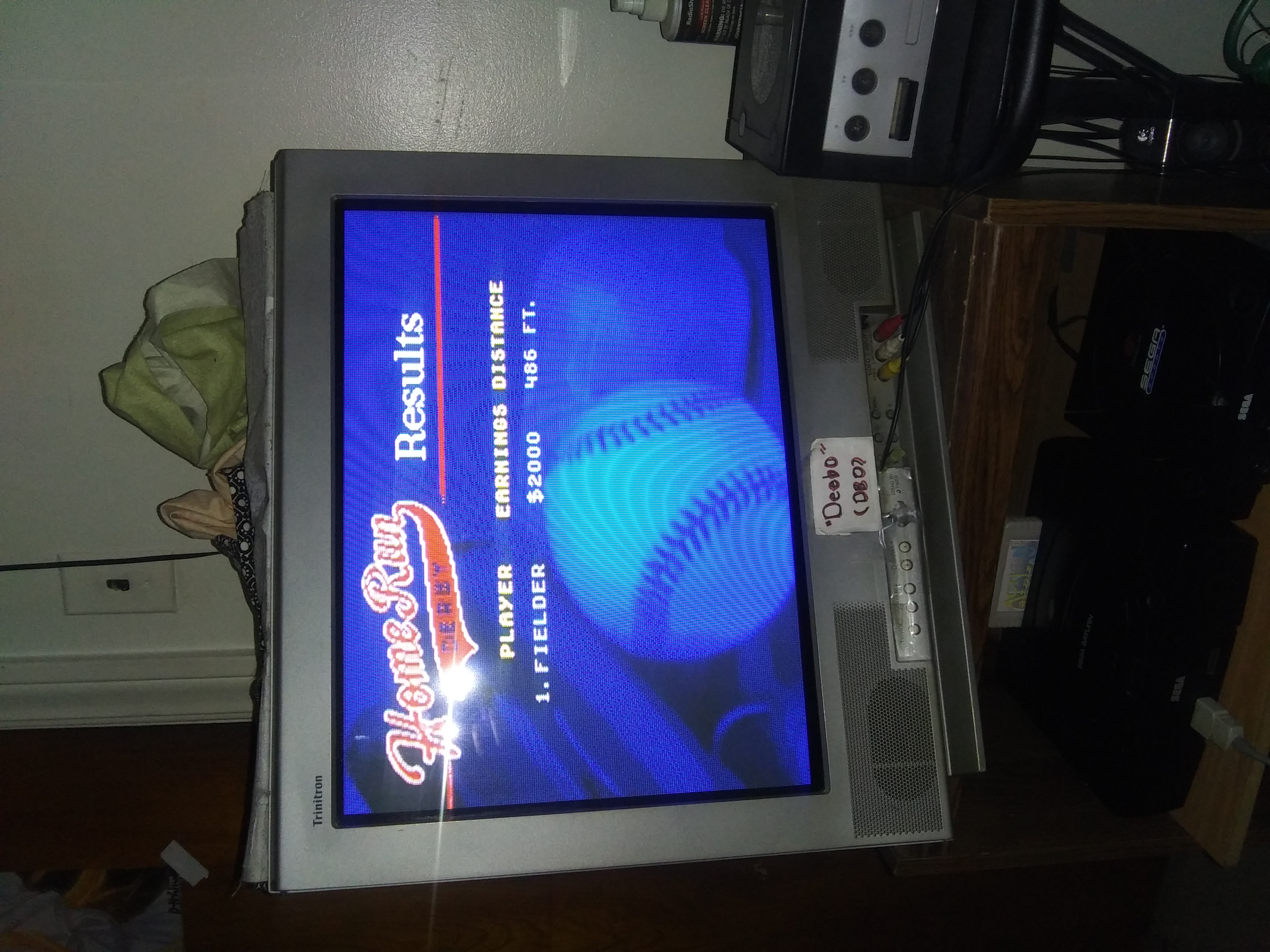 Deebo: World Series Baseball: Home Run Derby [Longest Home Run in Feet] (Sega Genesis / MegaDrive) 486 points on 2019-07-15 21:07:40