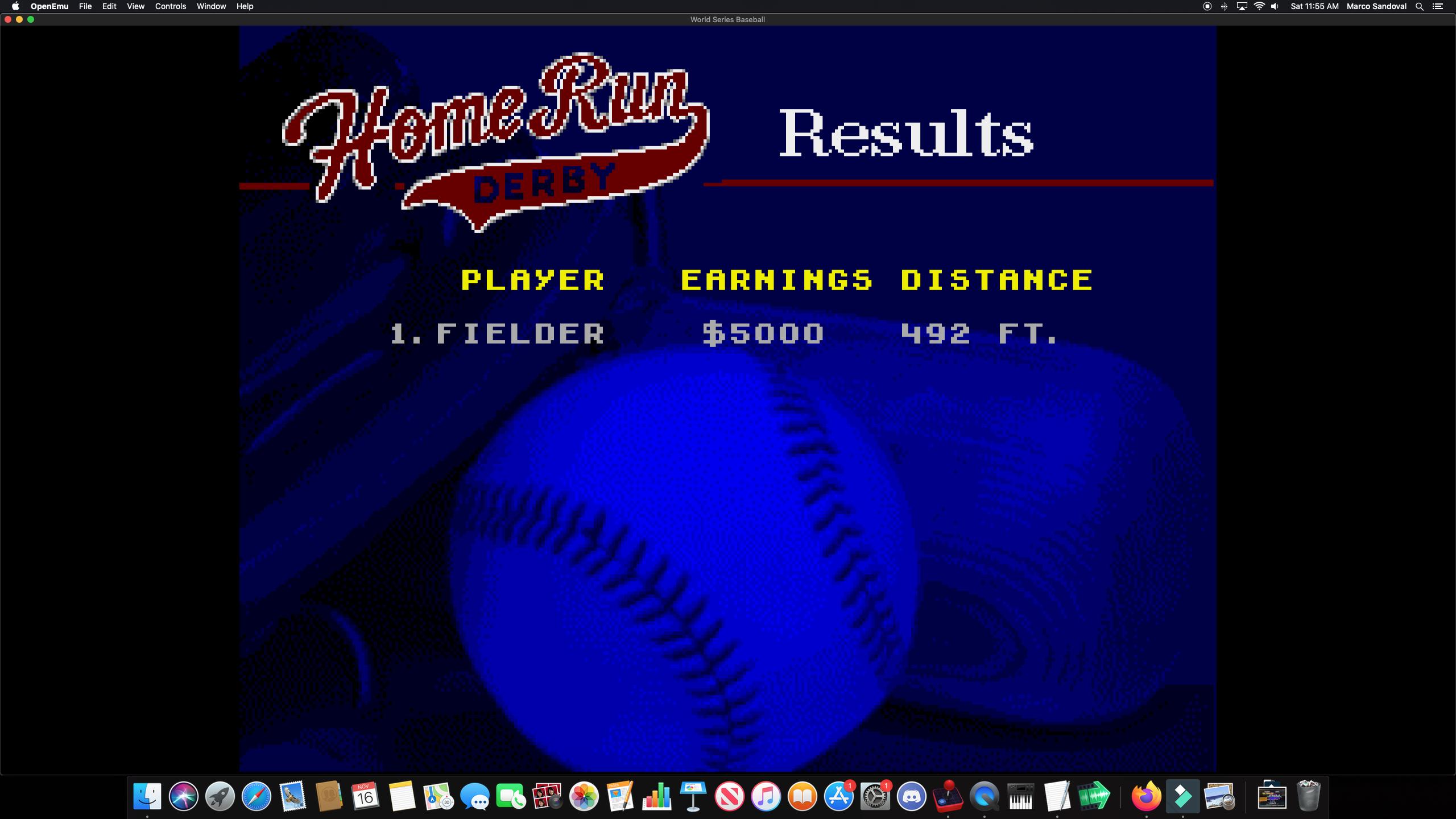 Marco1019: World Series Baseball: Home Run Derby [Longest Home Run in Feet] (Sega Genesis / MegaDrive Emulated) 492 points on 2019-11-16 15:03:41