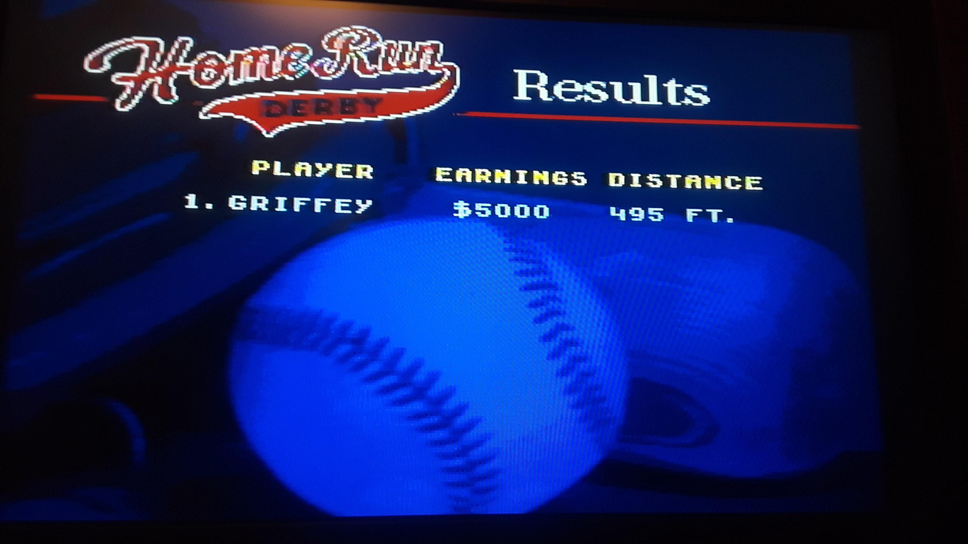World Series Baseball: Home Run Derby [Longest Home Run in Feet] 495 points