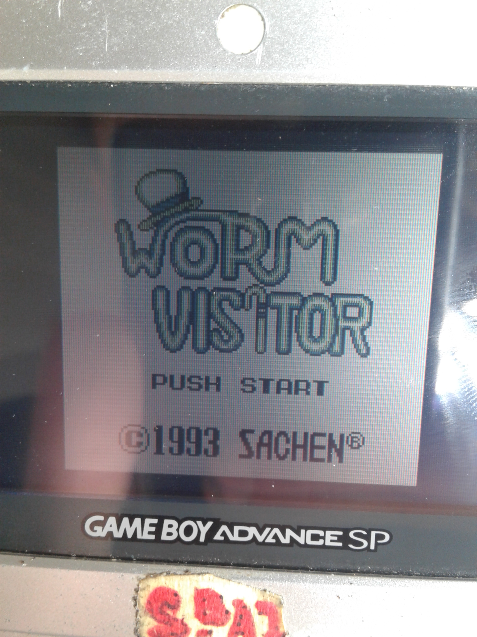 S.BAZ: Worm Visitor (Game Boy) 3,240 points on 2019-11-14 14:18:08