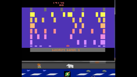 S.BAZ: Worm War I: Game 1AB (Atari 2600 Emulated) 19,175 points on 2018-04-04 15:03:42