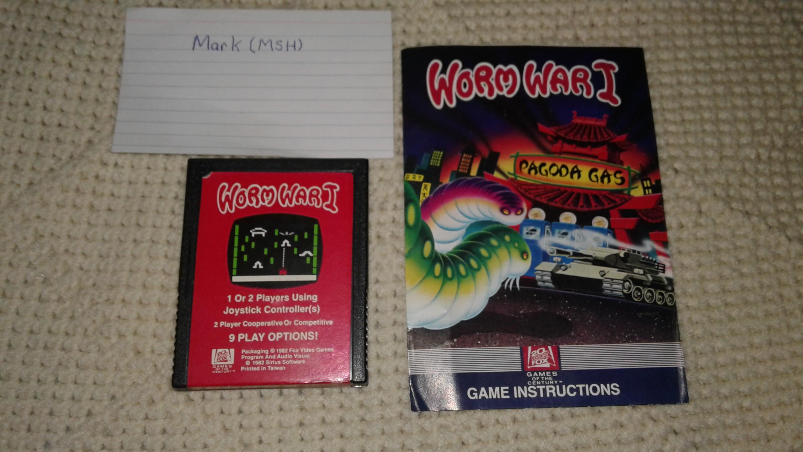 Mark: Worm War I: Game 1AB (Atari 2600) 121,050 points on 2019-03-10 01:26:38
