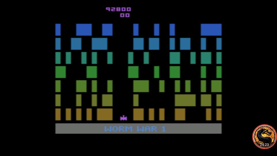 omargeddon: Worm War I: Game 1AB (Atari 2600 Emulated) 92,800 points on 2019-04-02 04:06:55