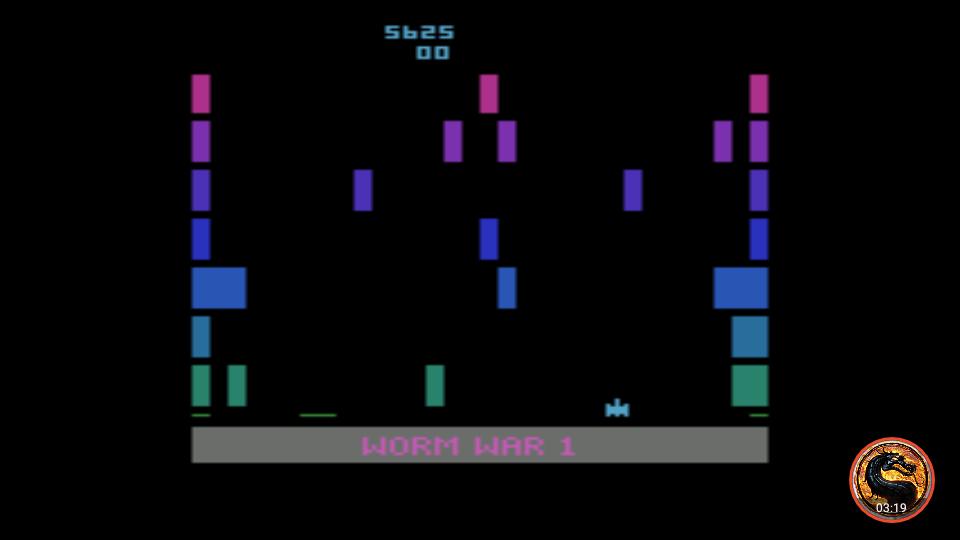 omargeddon: Worm War I: Game 1BA (Atari 2600 Emulated) 5,625 points on 2019-04-02 03:39:49
