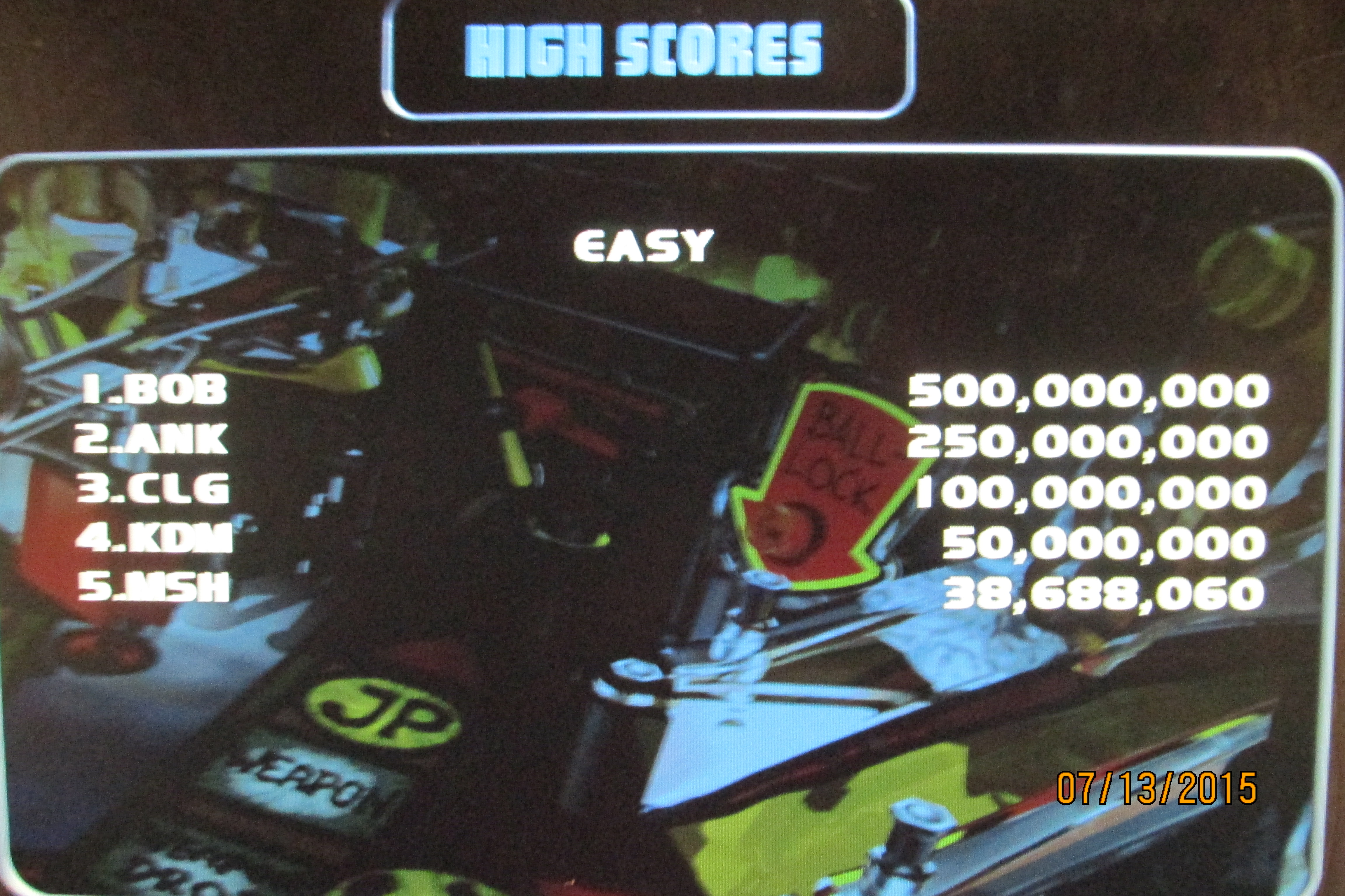 Mark: Worms Pinball [Low] (PC) 38,688,060 points on 2015-07-13 23:46:44