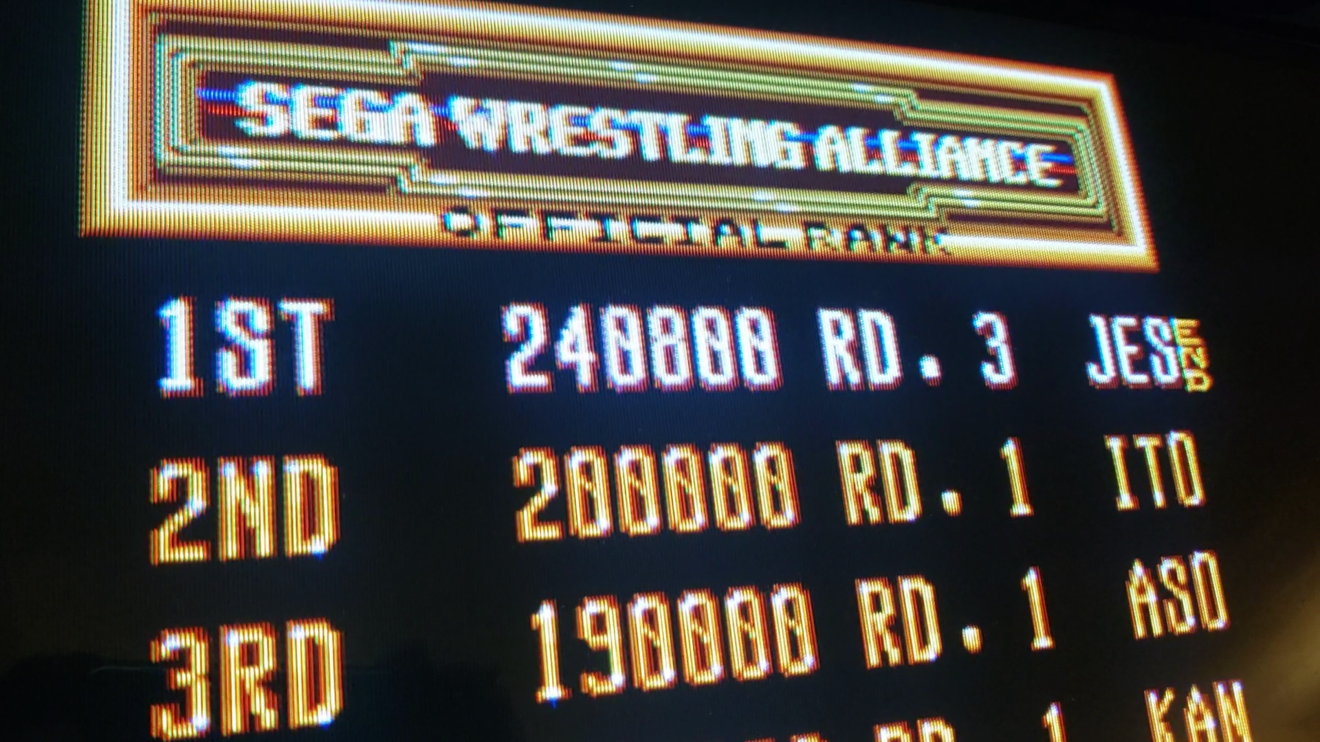 JES: Wrestle War [wrestwar] (Arcade Emulated / M.A.M.E.) 240,800 points on 2020-04-19 04:30:26