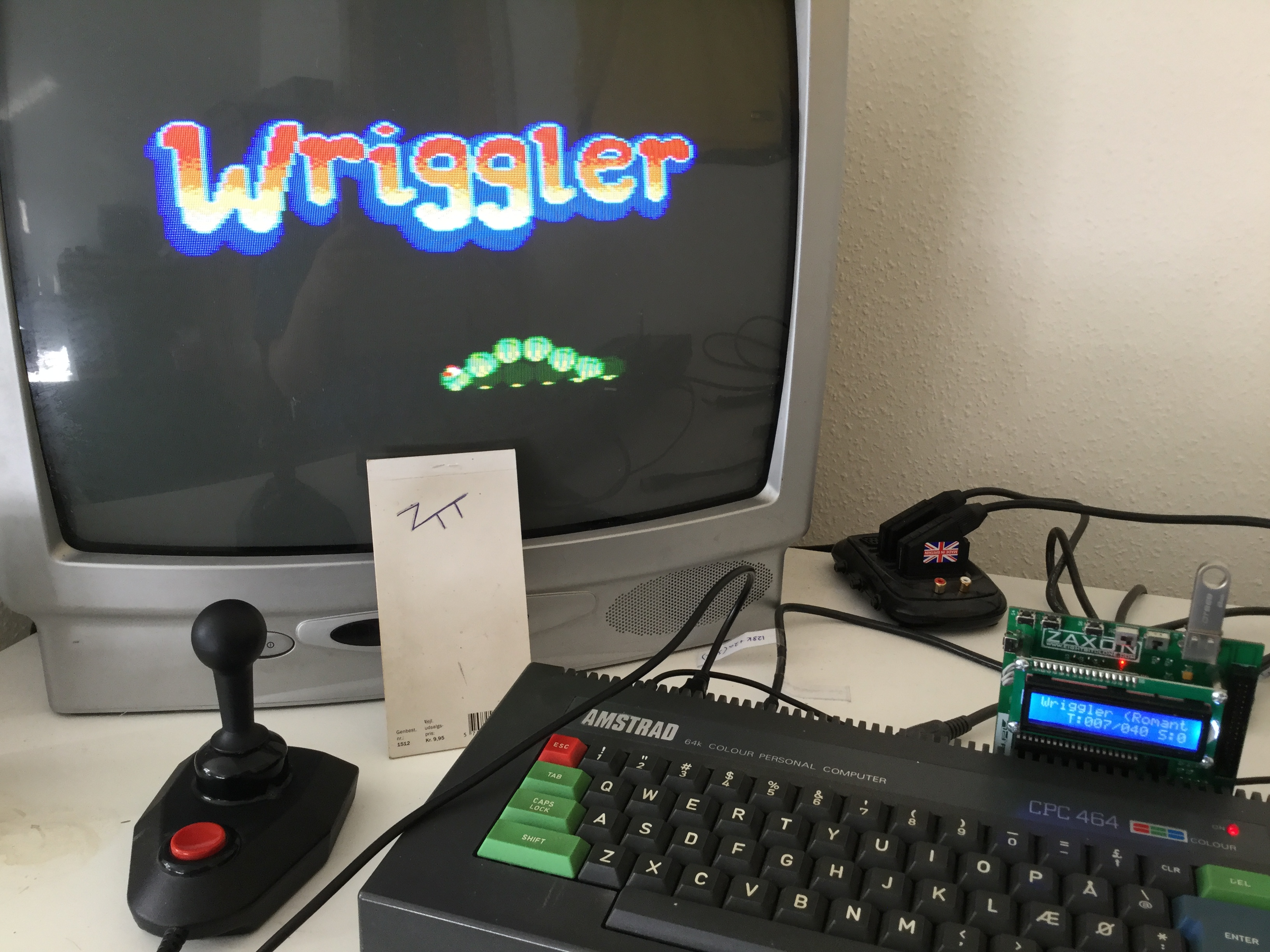 Frankie: Wriggler [Blaby Computer Games] (Amstrad CPC) 2,504 points on 2017-04-09 02:30:55