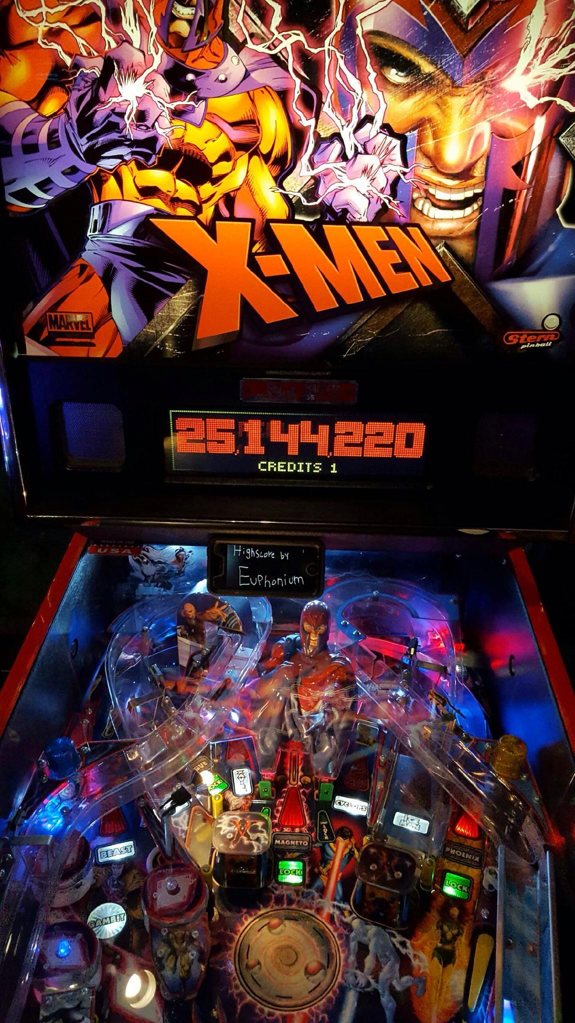 euphonium: X-Men Magneto LE (Pinball: 3 Balls) 25,144,220 points on 2016-06-09 23:22:55