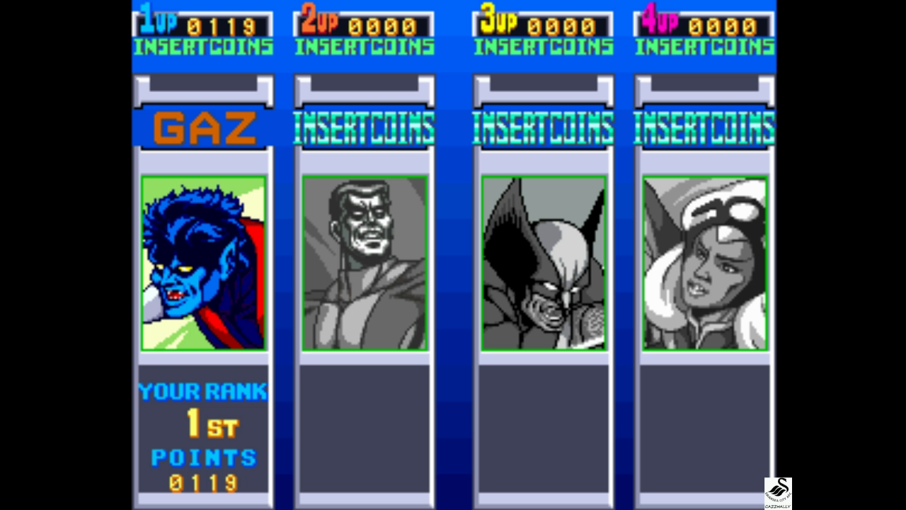 gazzhally: X-Men [xmen] (Arcade Emulated / M.A.M.E.) 119 points on 2017-10-04 12:16:08