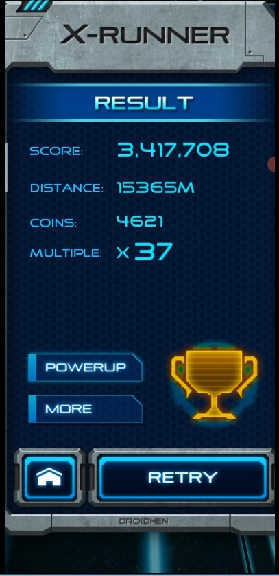 LuigiRuffolo: X-Runner (Android) 3,417,708 points on 2020-12-24 13:02:15