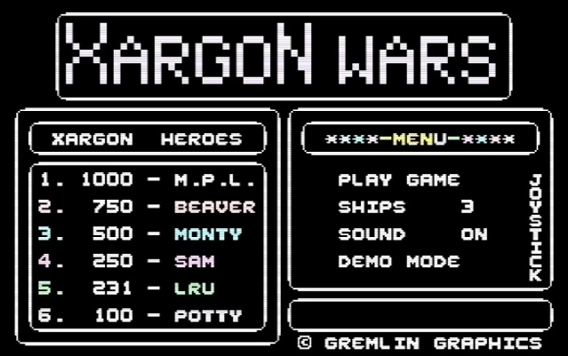 LuigiRuffolo: Xargon Wars (Commodore 16/Plus4 Emulated) 231 points on 2020-12-25 04:09:33