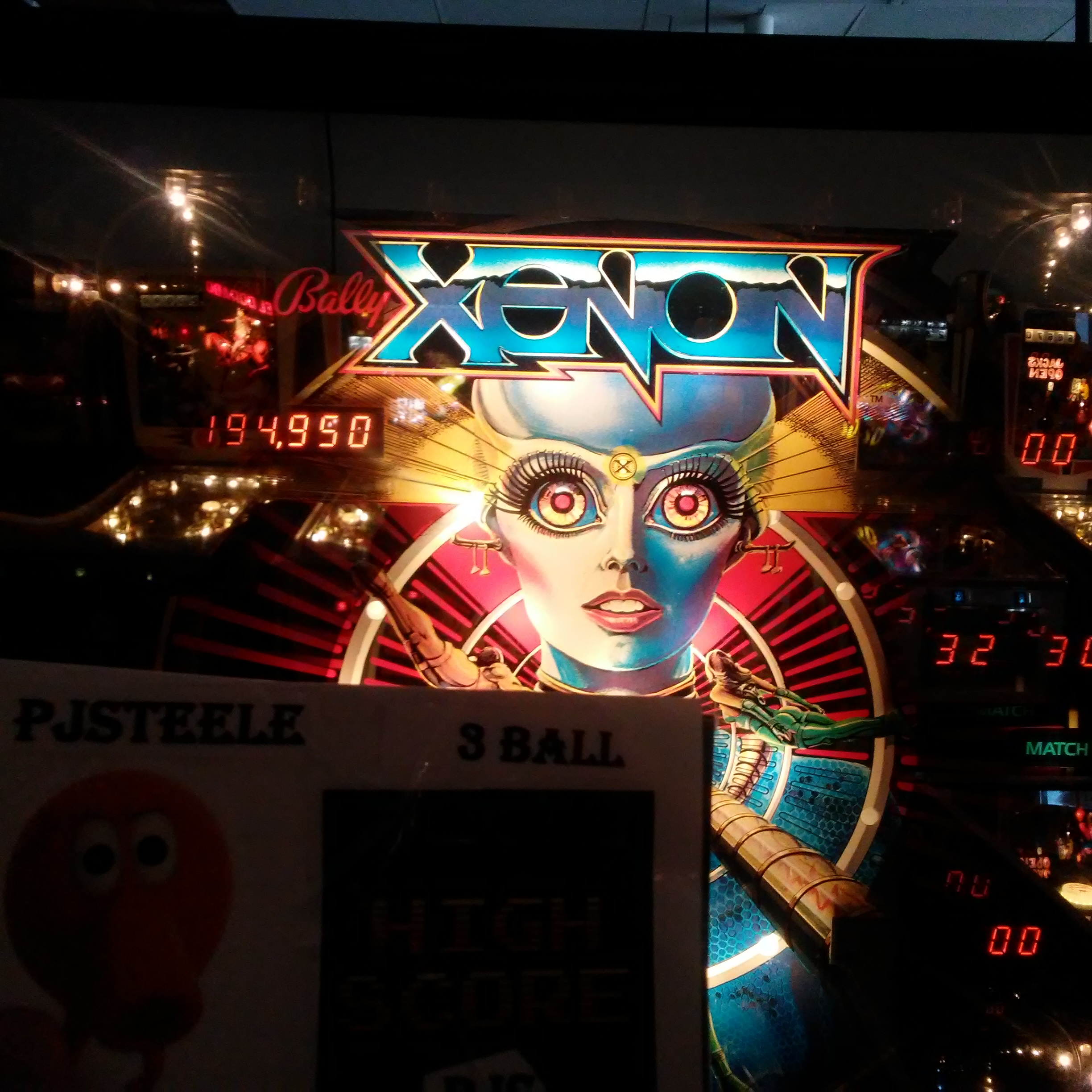 Pjsteele: Xenon (Pinball: 3 Balls) 194,950 points on 2018-03-03 20:53:20