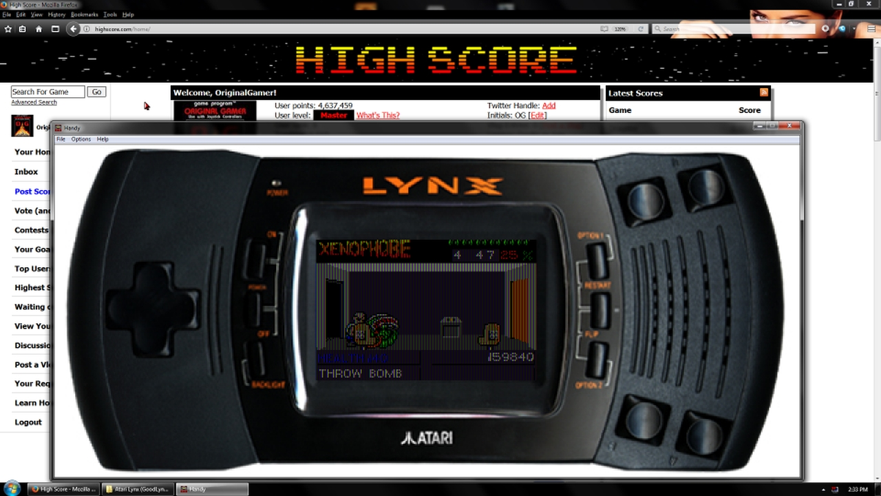 OriginalGamer: Xenophobe (Atari Lynx Emulated) 159,840 points on 2018-03-25 01:04:10