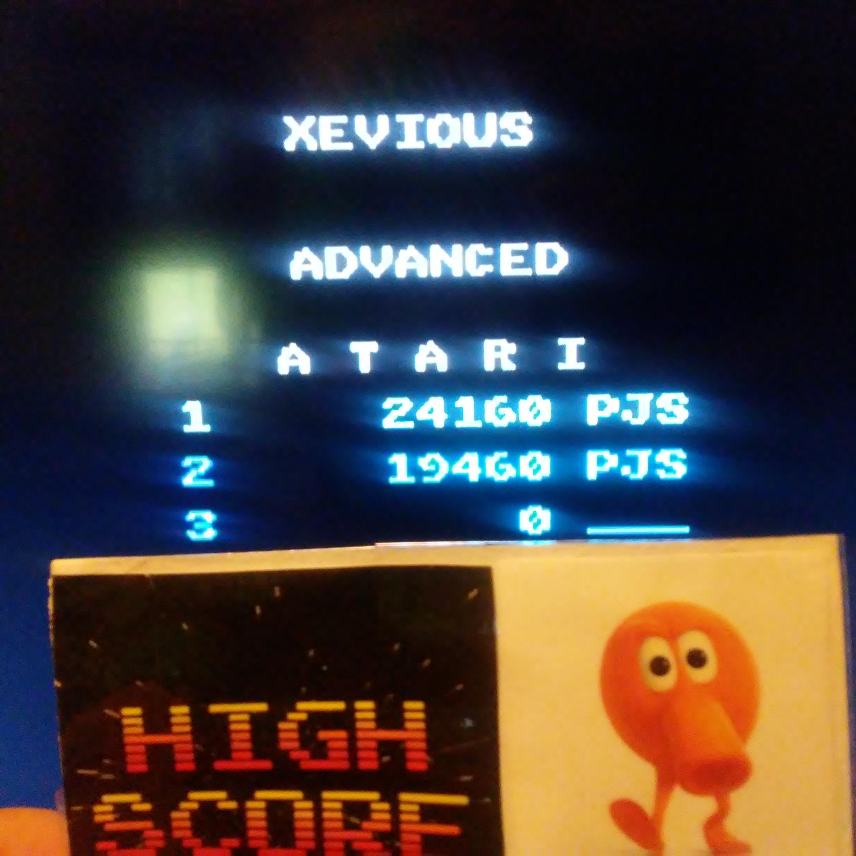 Pjsteele: Xevious: Advanced (Atari 7800 Emulated) 24,160 points on 2017-10-18 16:02:11