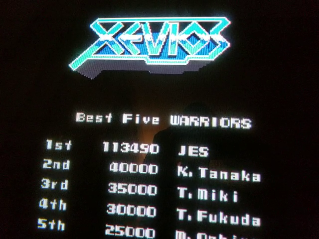 JES: Xevious (Arcade Emulated / M.A.M.E.) 113,490 points on 2018-09-18 04:04:57