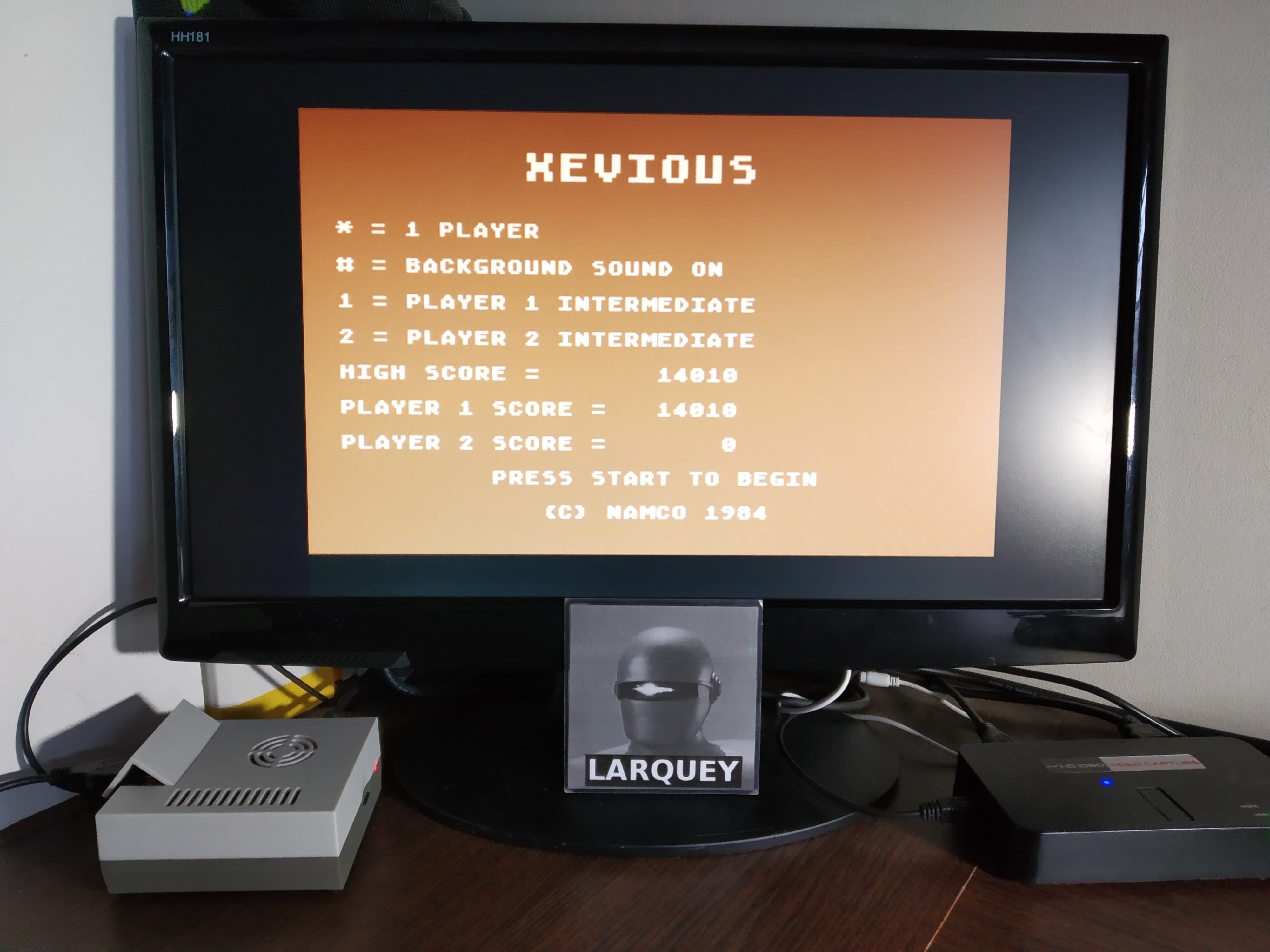 Larquey: Xevious (Atari 5200 Emulated) 14,010 points on 2019-11-11 02:51:06