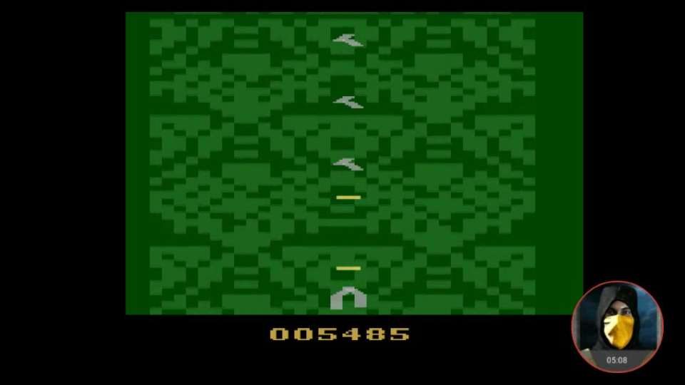 omargeddon: Xevious [Game 1BA] (Atari 2600 Emulated) 5,485 points on 2018-02-14 18:33:02