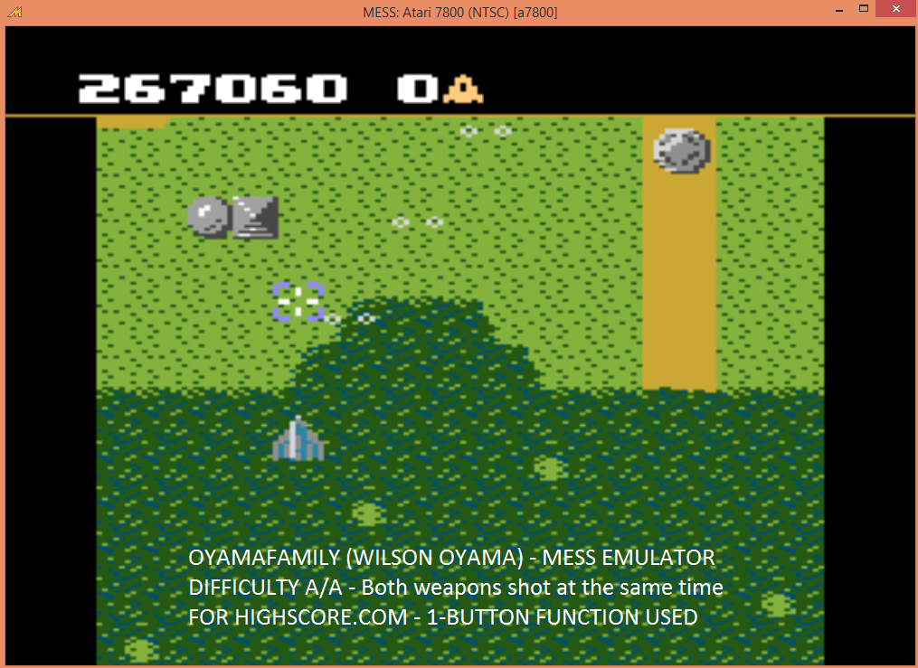 oyamafamily: Xevious: Intermediate (Atari 7800 Emulated) 267,060 points on 2015-12-12 14:14:46