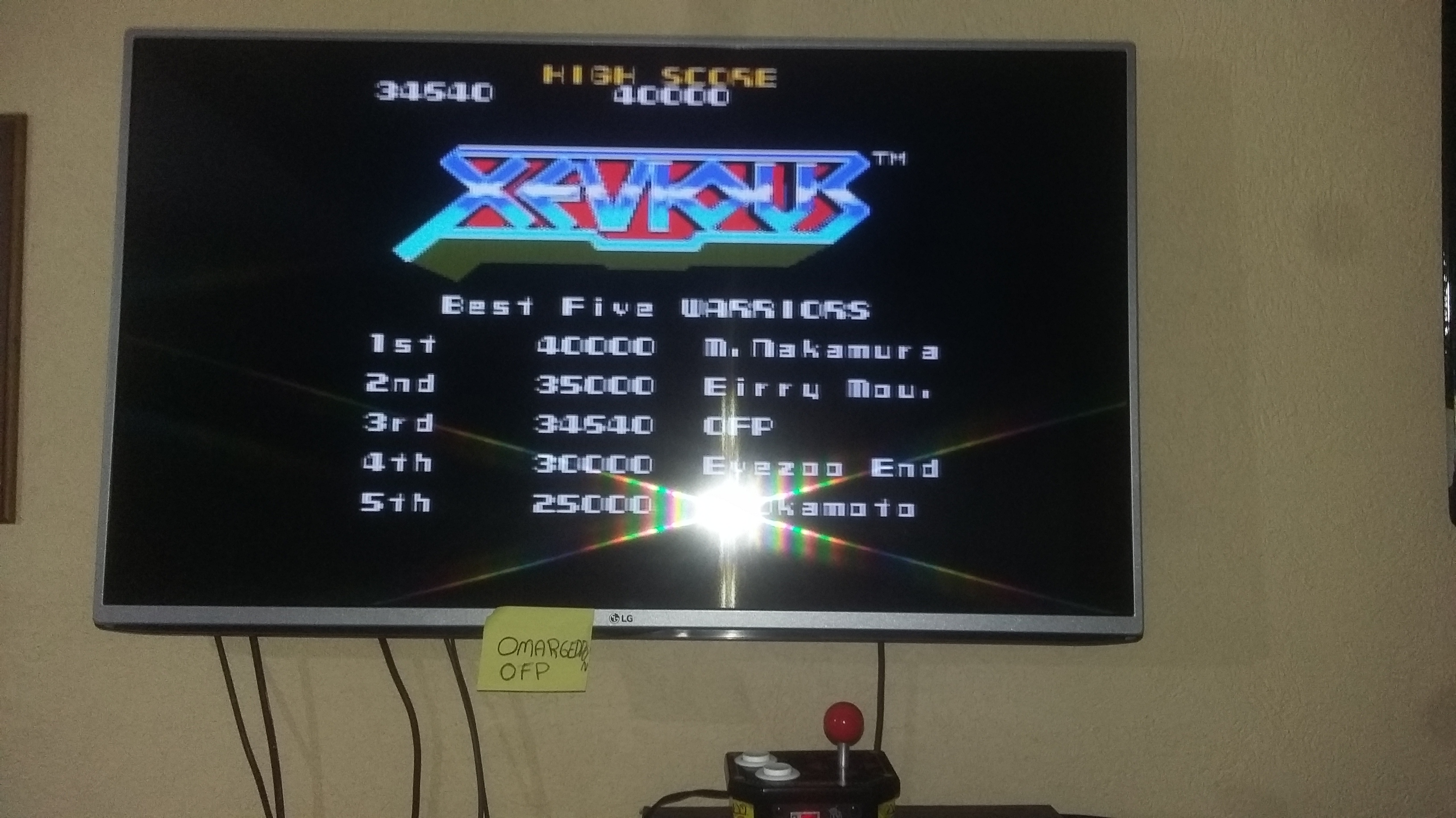 Xevious 34,540 points