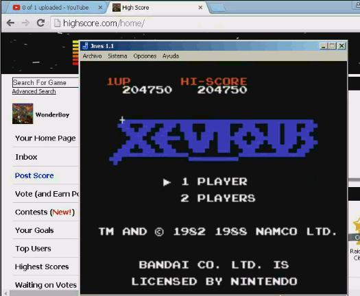 Xevious 204,750 points