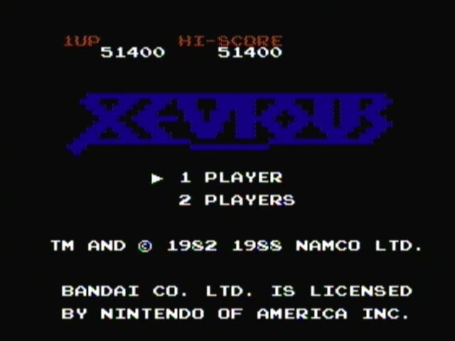 derek: Xevious (NES/Famicom) 51,400 points on 2016-11-08 13:24:13
