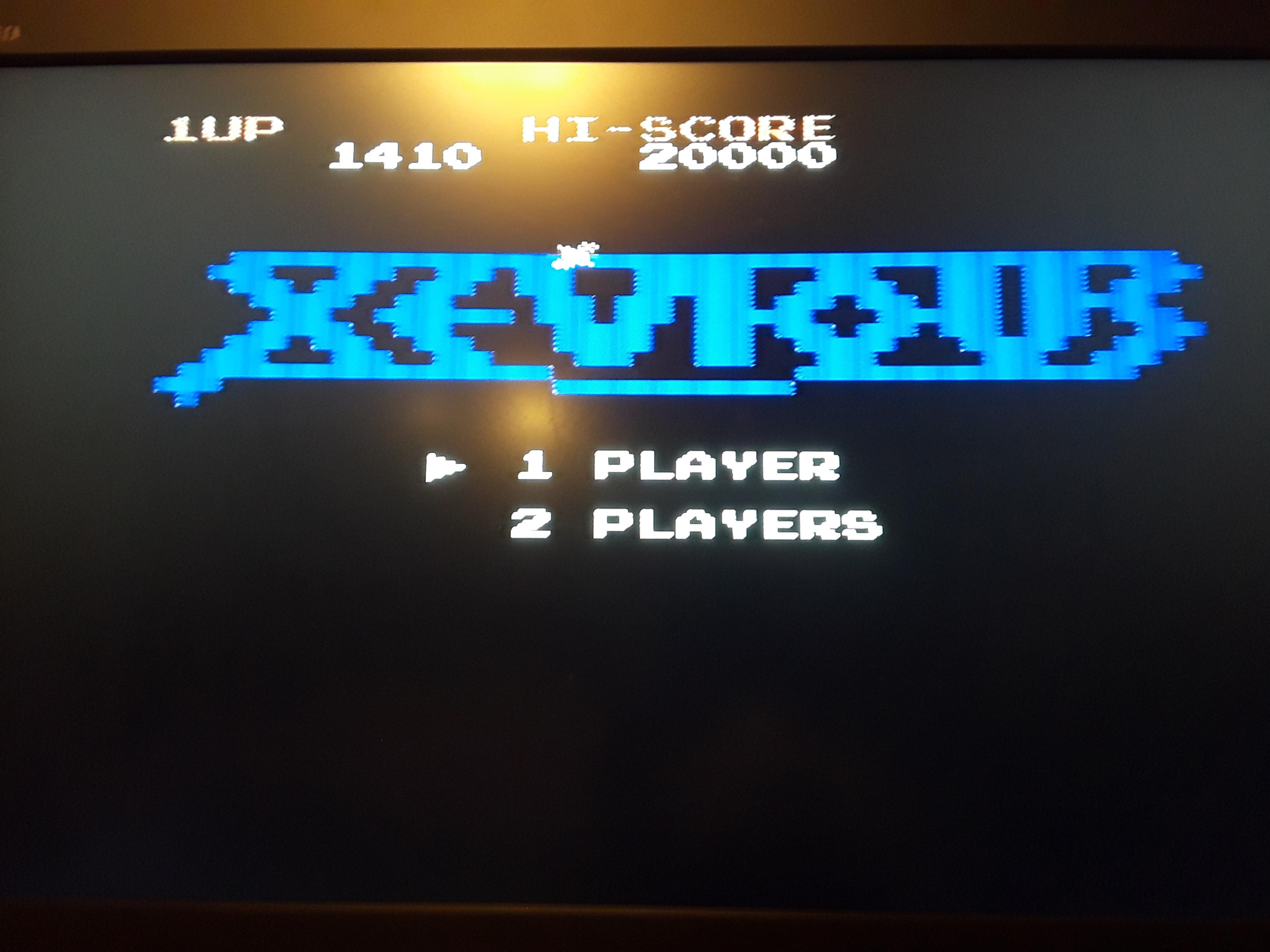 Xevious 1,410 points