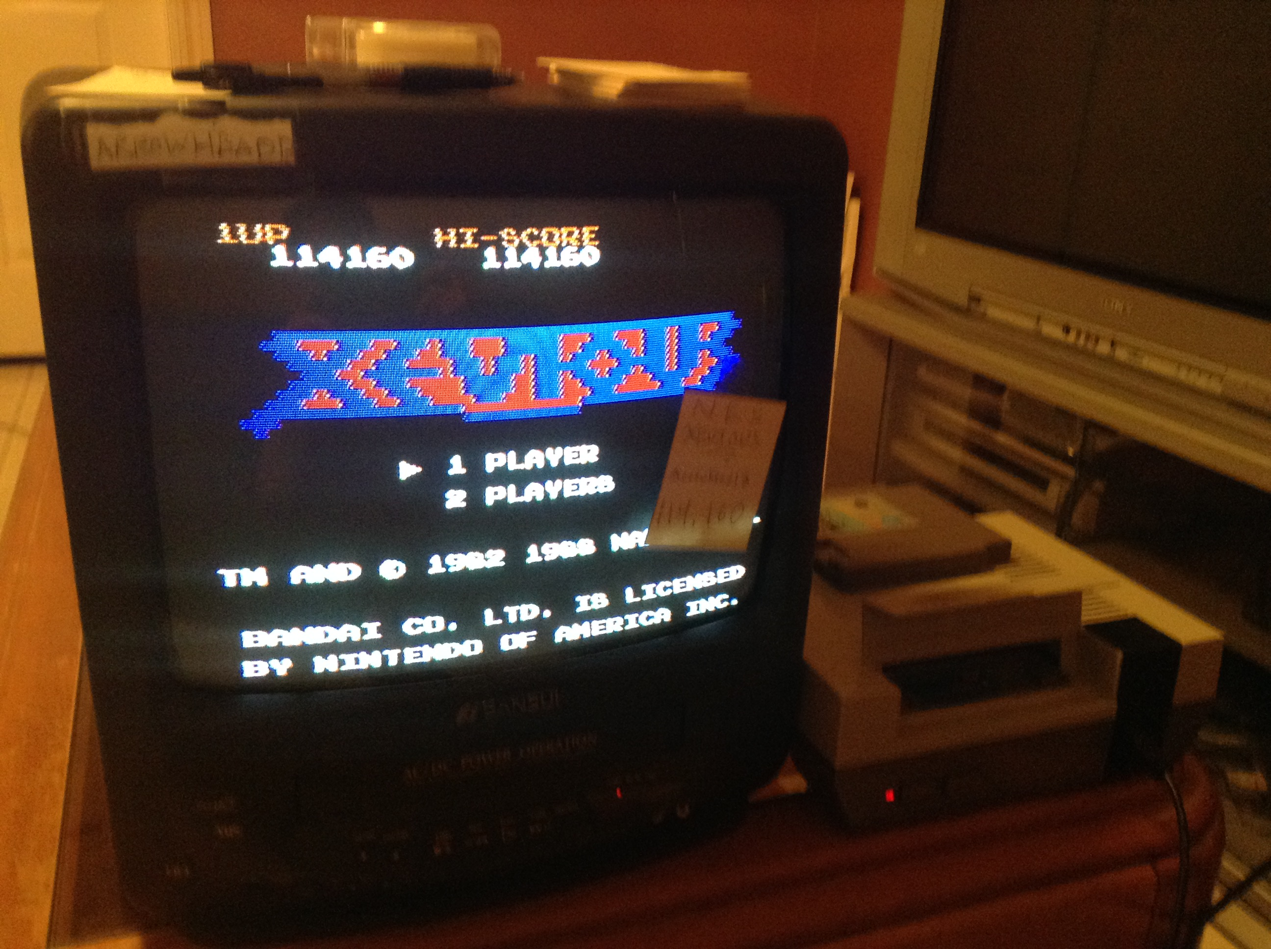 Xevious 114,160 points