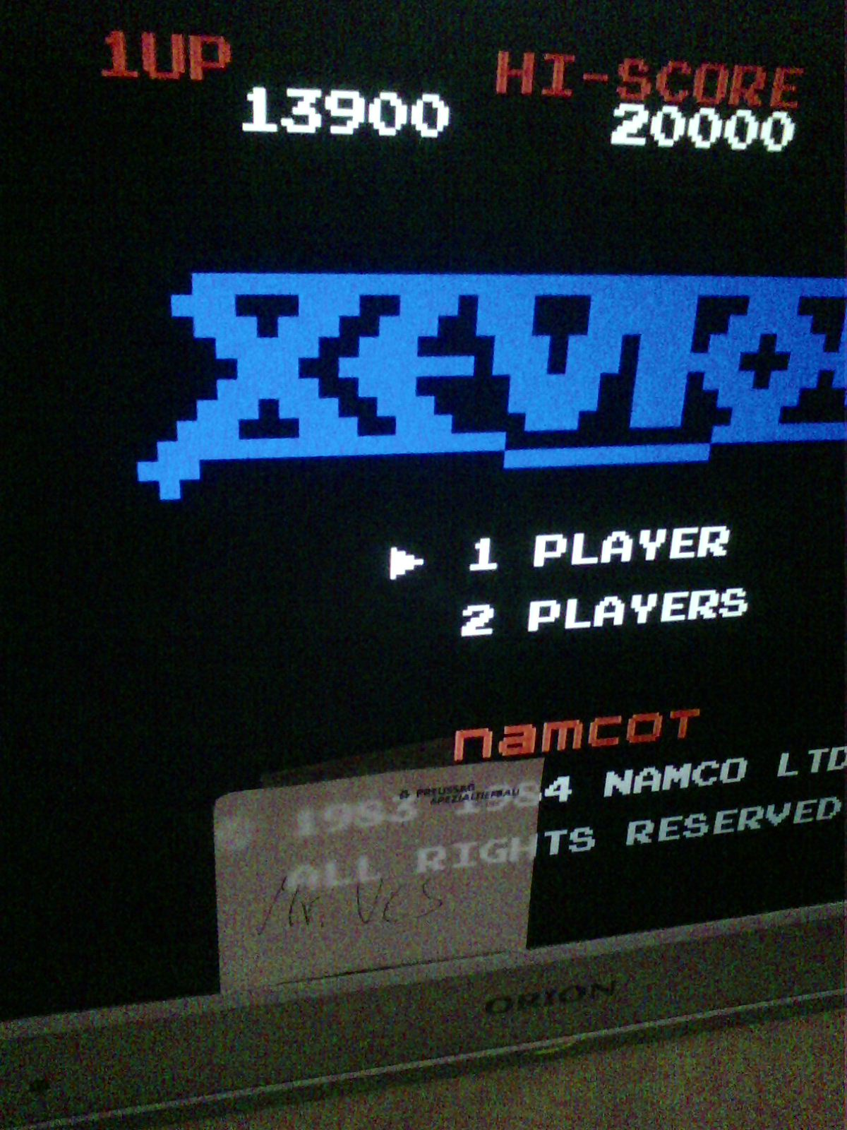 MisterVCS: Xevious (NES/Famicom Emulated) 13,900 points on 2019-06-20 04:59:19