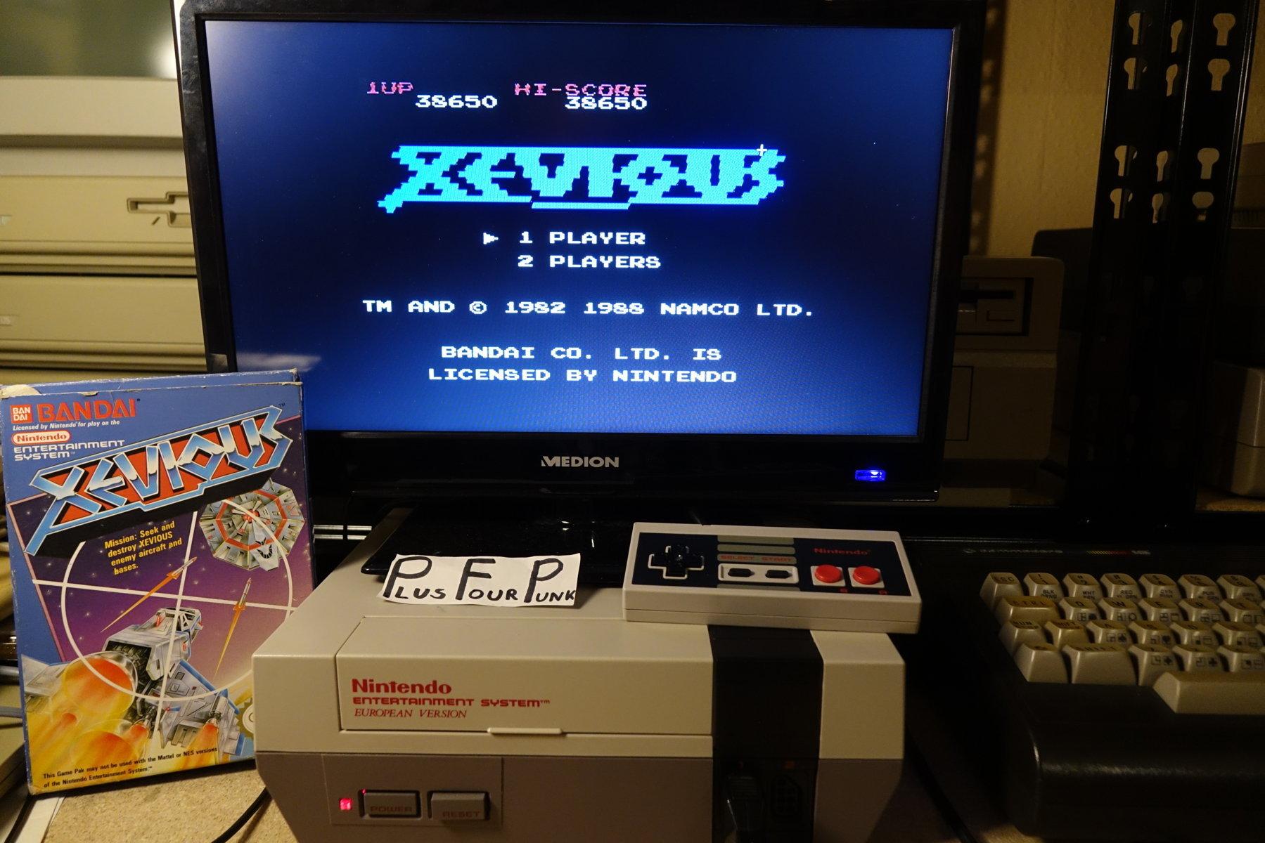 plus4punk: Xevious (NES/Famicom) 38,650 points on 2020-05-31 15:59:14