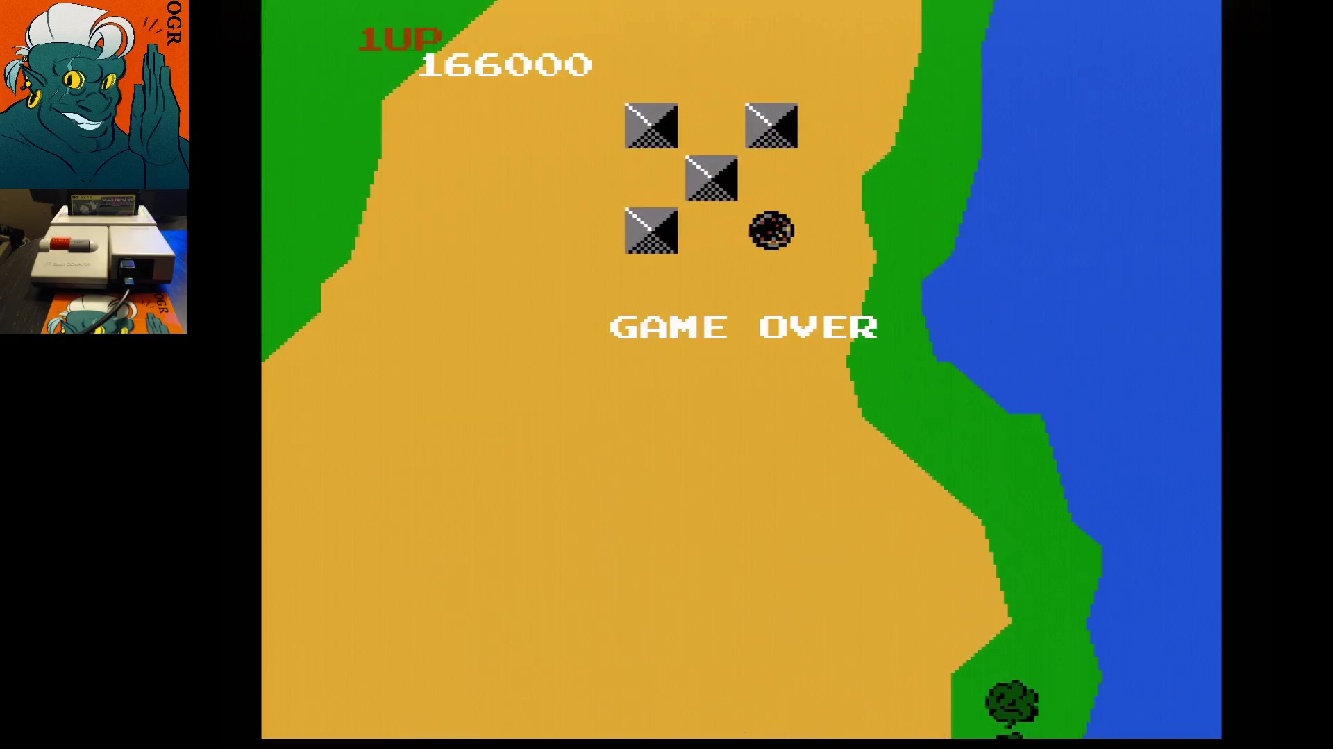 Xevious 166,000 points