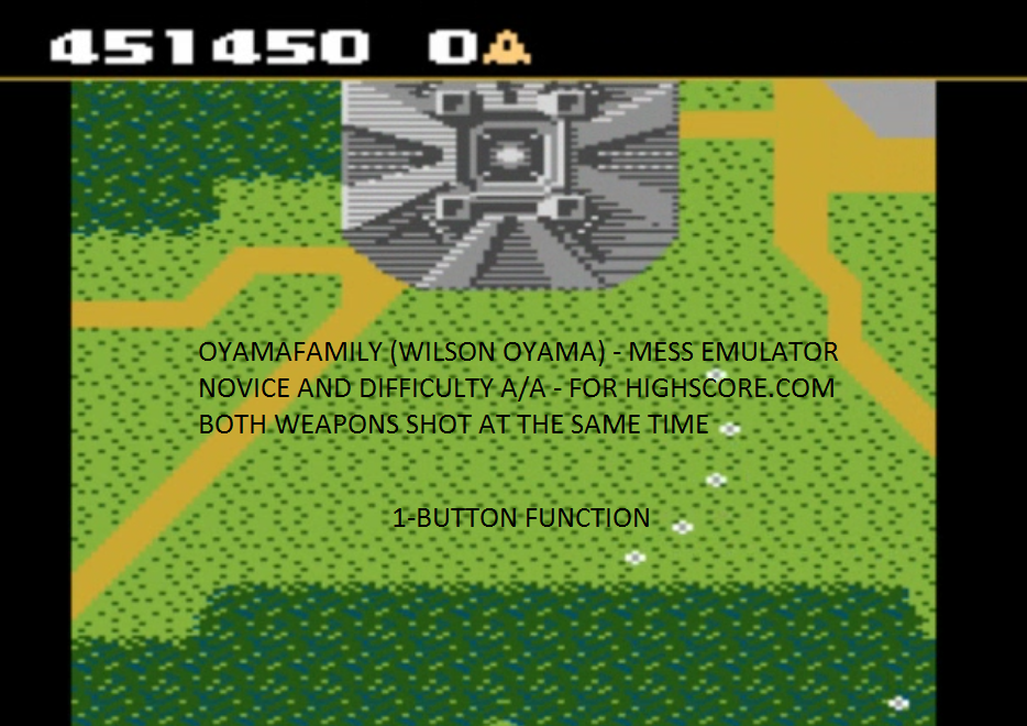 oyamafamily: Xevious: Novice (Atari 7800 Emulated) 451,450 points on 2015-12-10 16:29:29