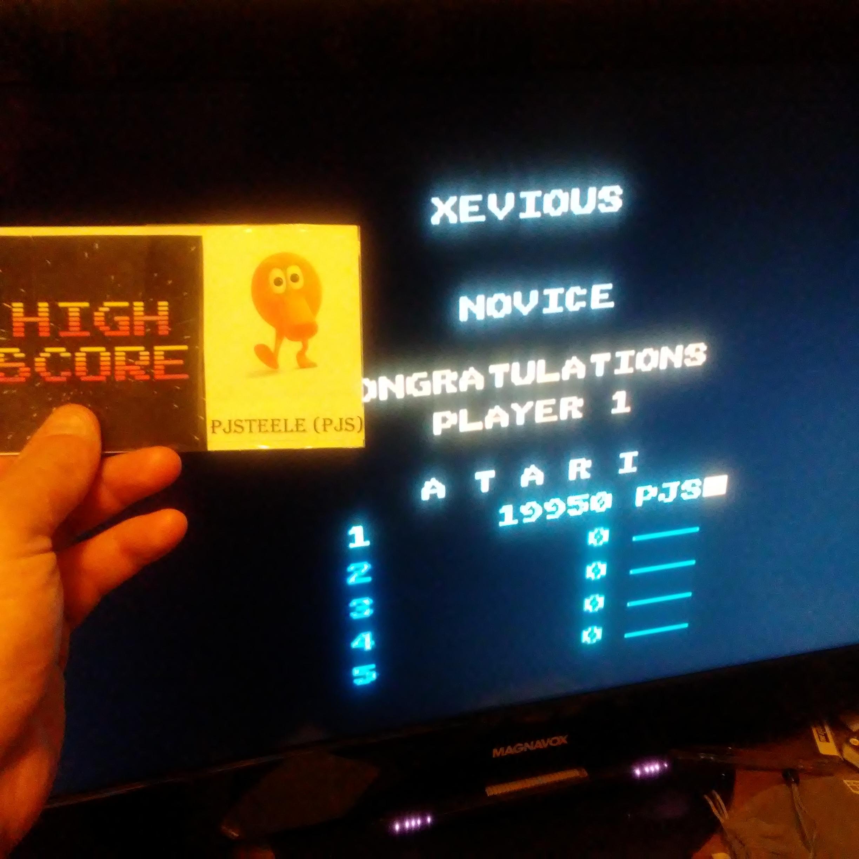 Pjsteele: Xevious: Novice (Atari 7800 Emulated) 19,950 points on 2017-10-15 20:05:45
